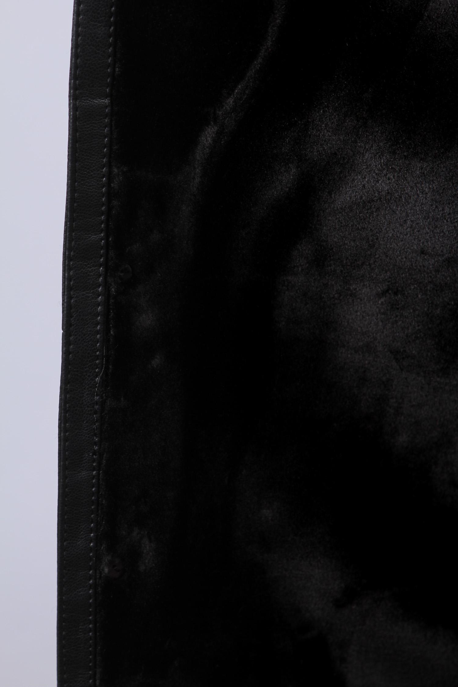Дубленка мужская с воротником, отделка натуральным мехом норки от Московская Меховая Компания