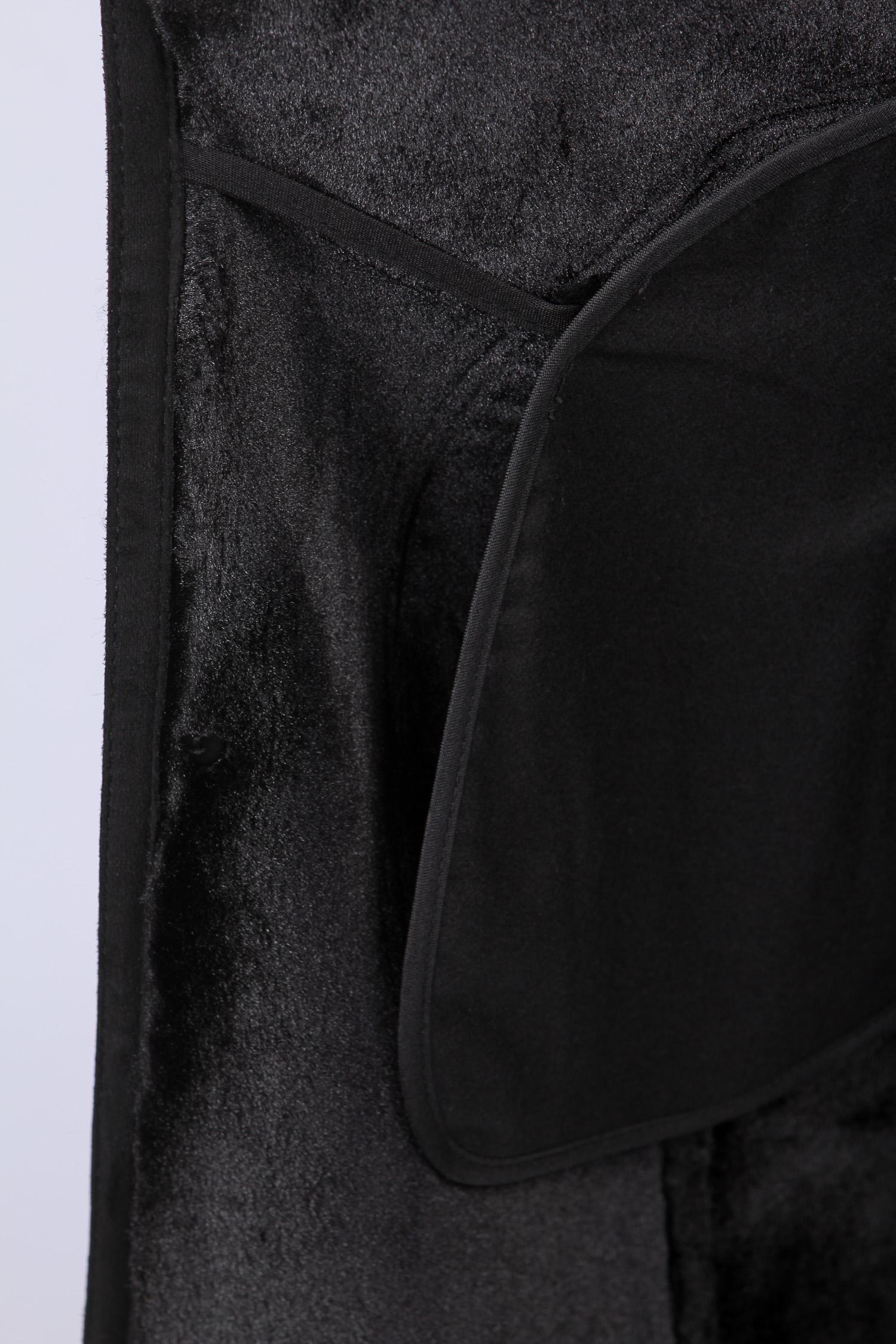 Дубленка мужская с воротником, отделка норка от Московская Меховая Компания