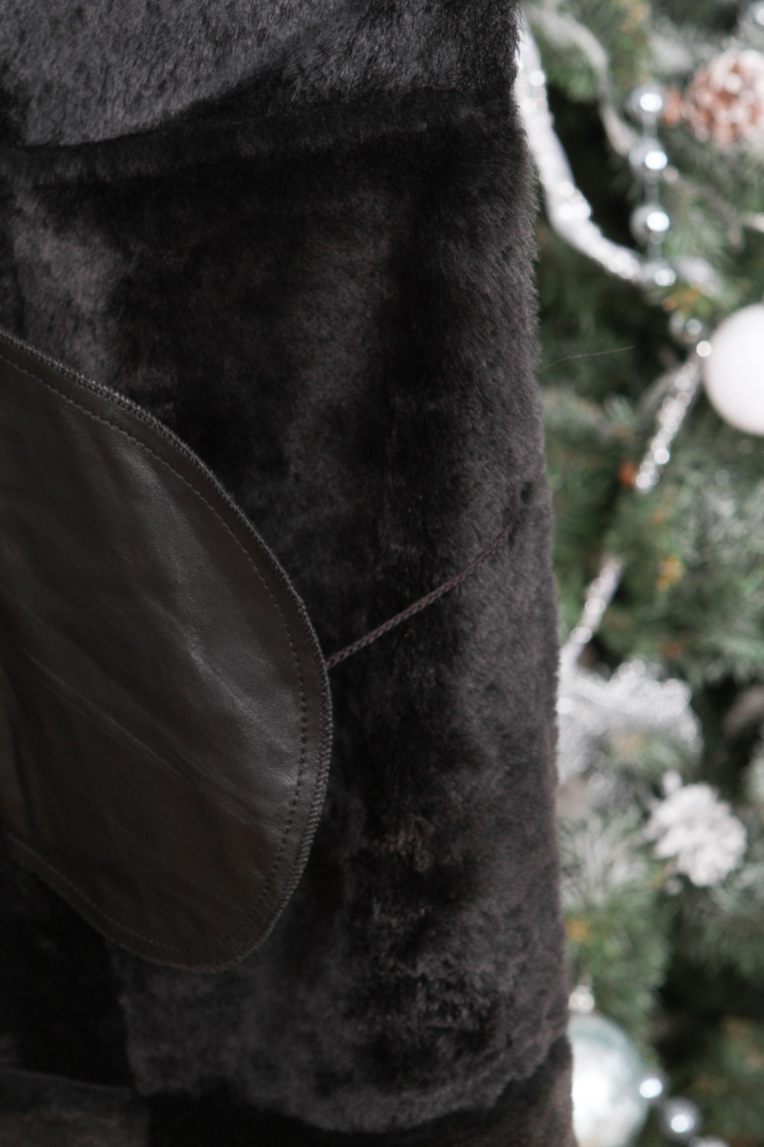 Дубленка женская из натуральной овчины с капюшоном, отделка тоскана от Московская Меховая Компания