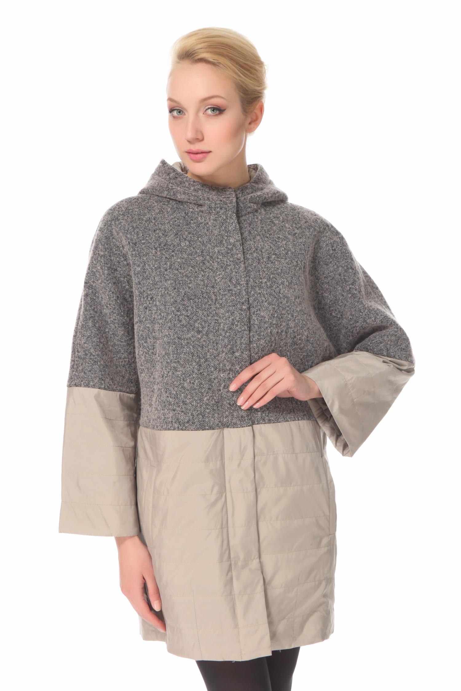 Женское пальто с капюшоном, без отделки<br><br>Воротник: капюшон<br>Длина см: Средняя (75-89 )<br>Материал: Комбинированный состав<br>Цвет: серый<br>Вид застежки: центральная<br>Застежка: на молнии<br>Пол: Женский<br>Размер RU: 52