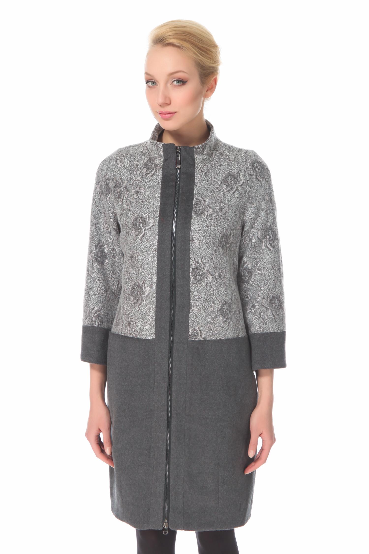 Женское пальто с воротником, отделка норка