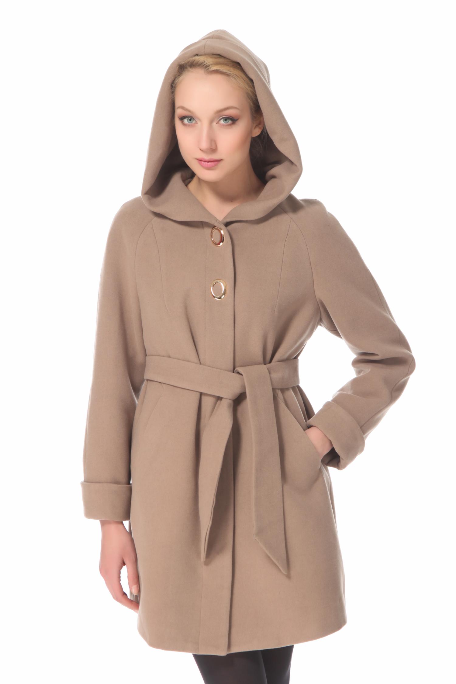 Женское пальто с капюшоном, без отделки<br><br>Воротник: Капюшон<br>Длина см: 85<br>Материал: 20% шерсть 70% полиэстер 10% в<br>Цвет: Бежевый<br>Пол: Женский