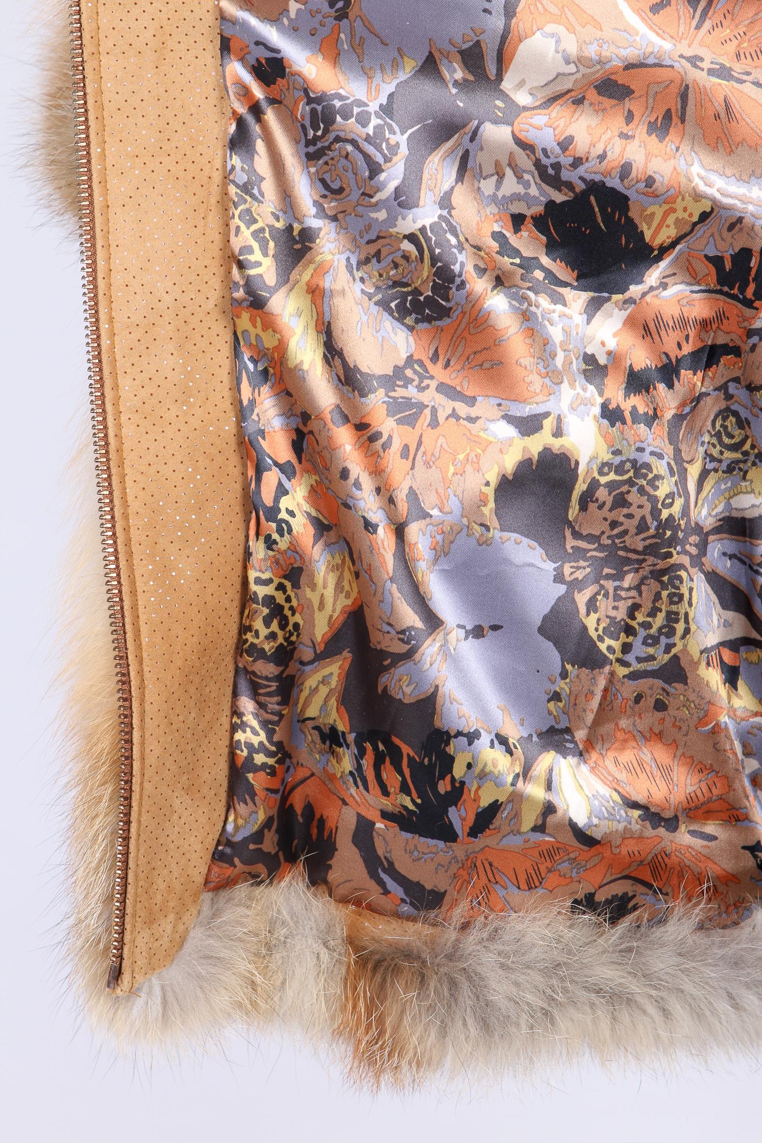 Шуба из лисы с капюшон, отделка замша от Московская Меховая Компания