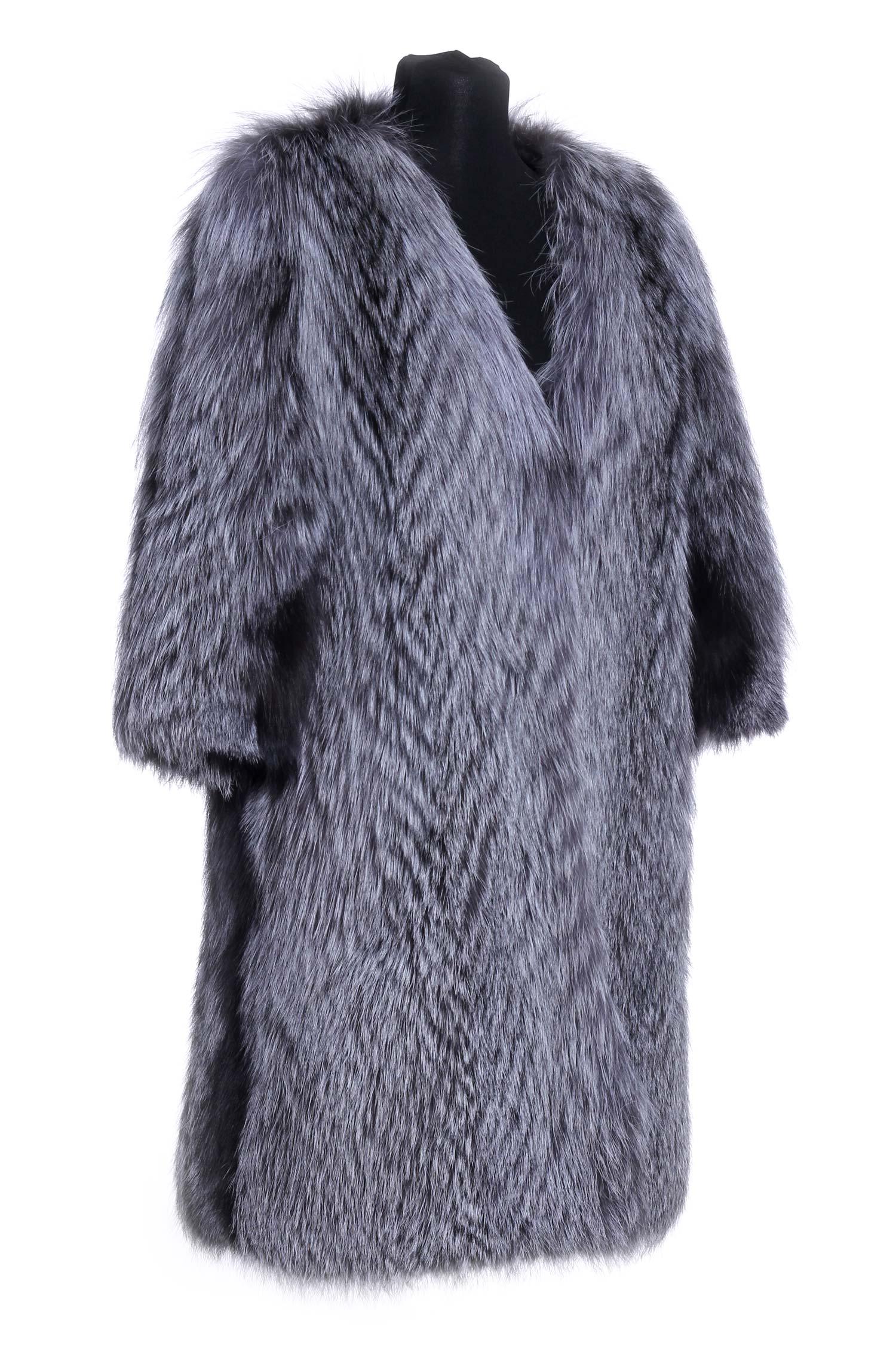 Куртка из лисы с воротником, без отделки от Московская Меховая Компания