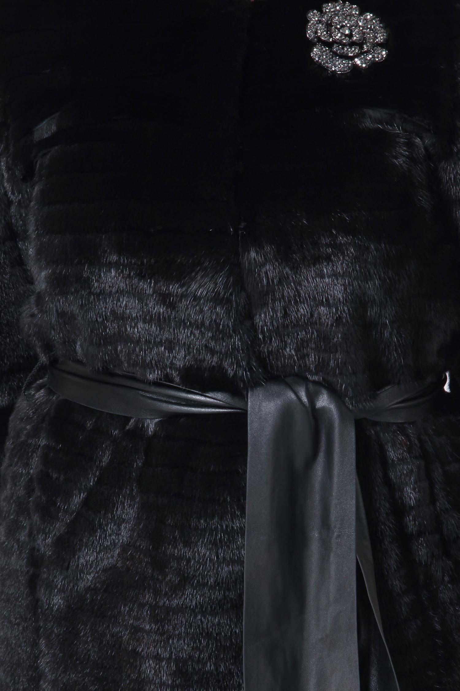 Пальто из норки с воротником, без отделки от Московская Меховая Компания