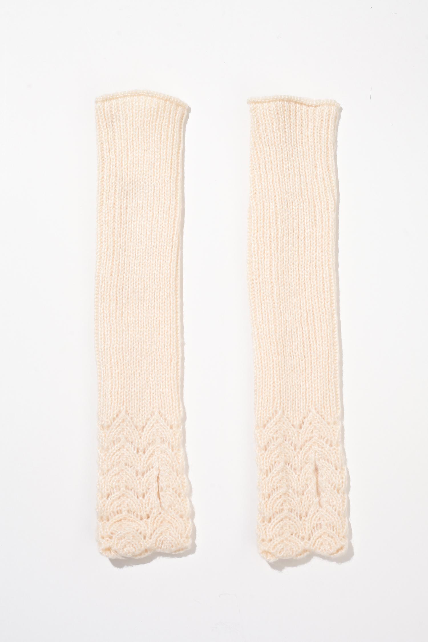 Митенки женские из текстиля<br><br>Длина см: 40<br>Материал: Текстиль<br>Цвет: Светло-бежевый<br>Пол: Женский
