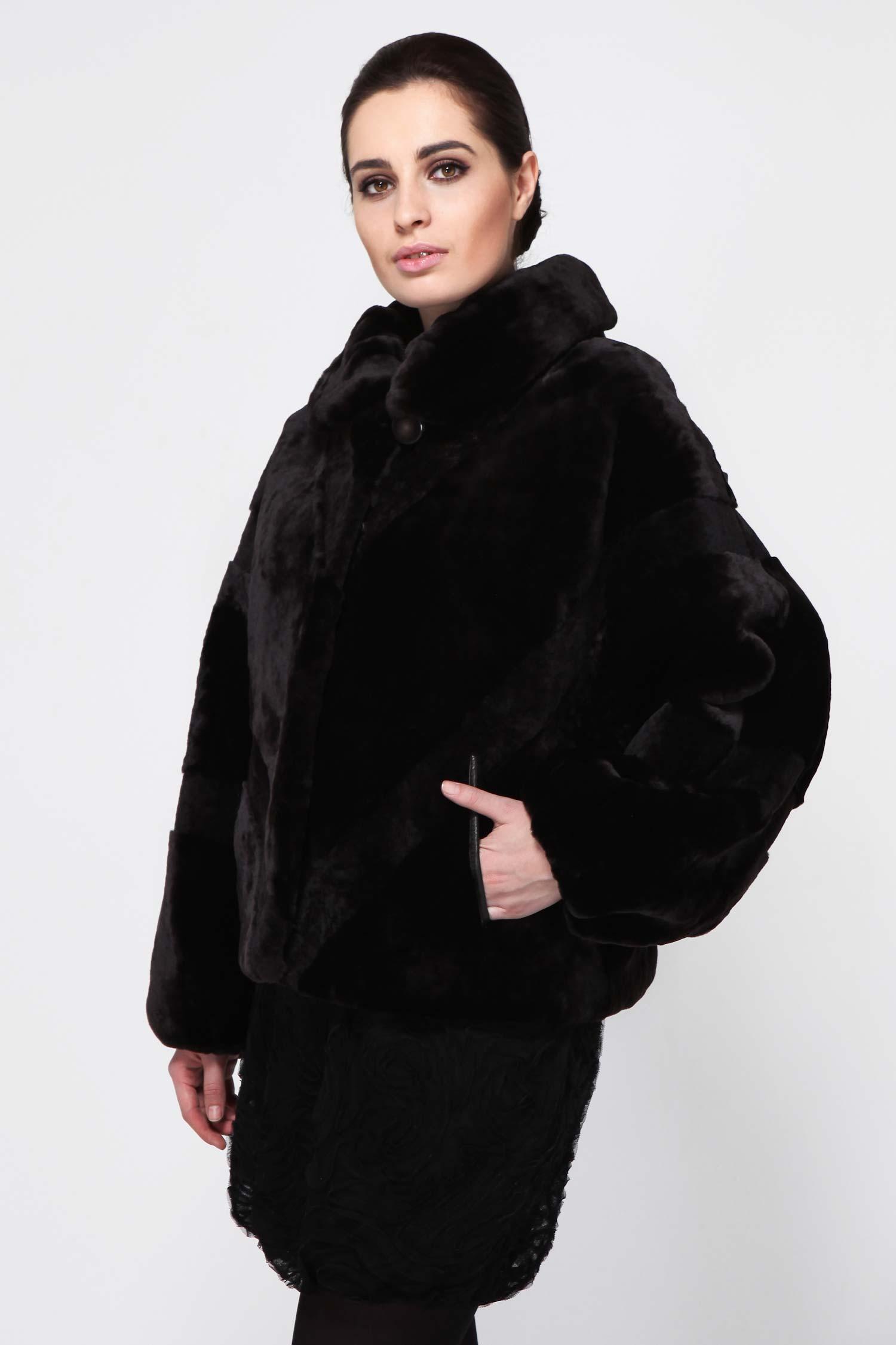 Куртка из мутона с воротником, без отделки от Московская Меховая Компания