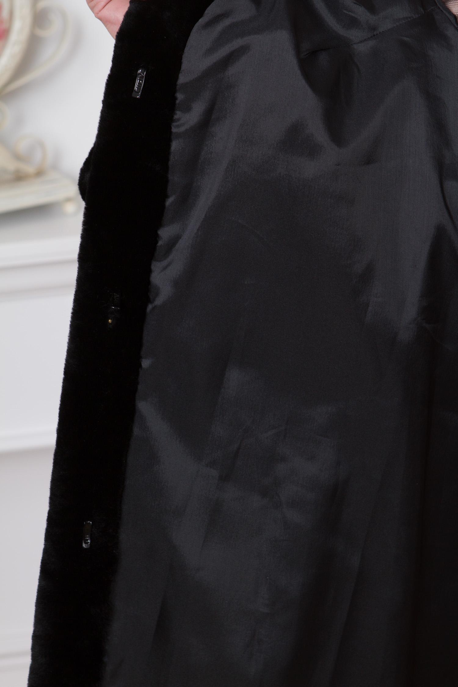 Шуба из мутона с воротником, отделка каракуль от Московская Меховая Компания