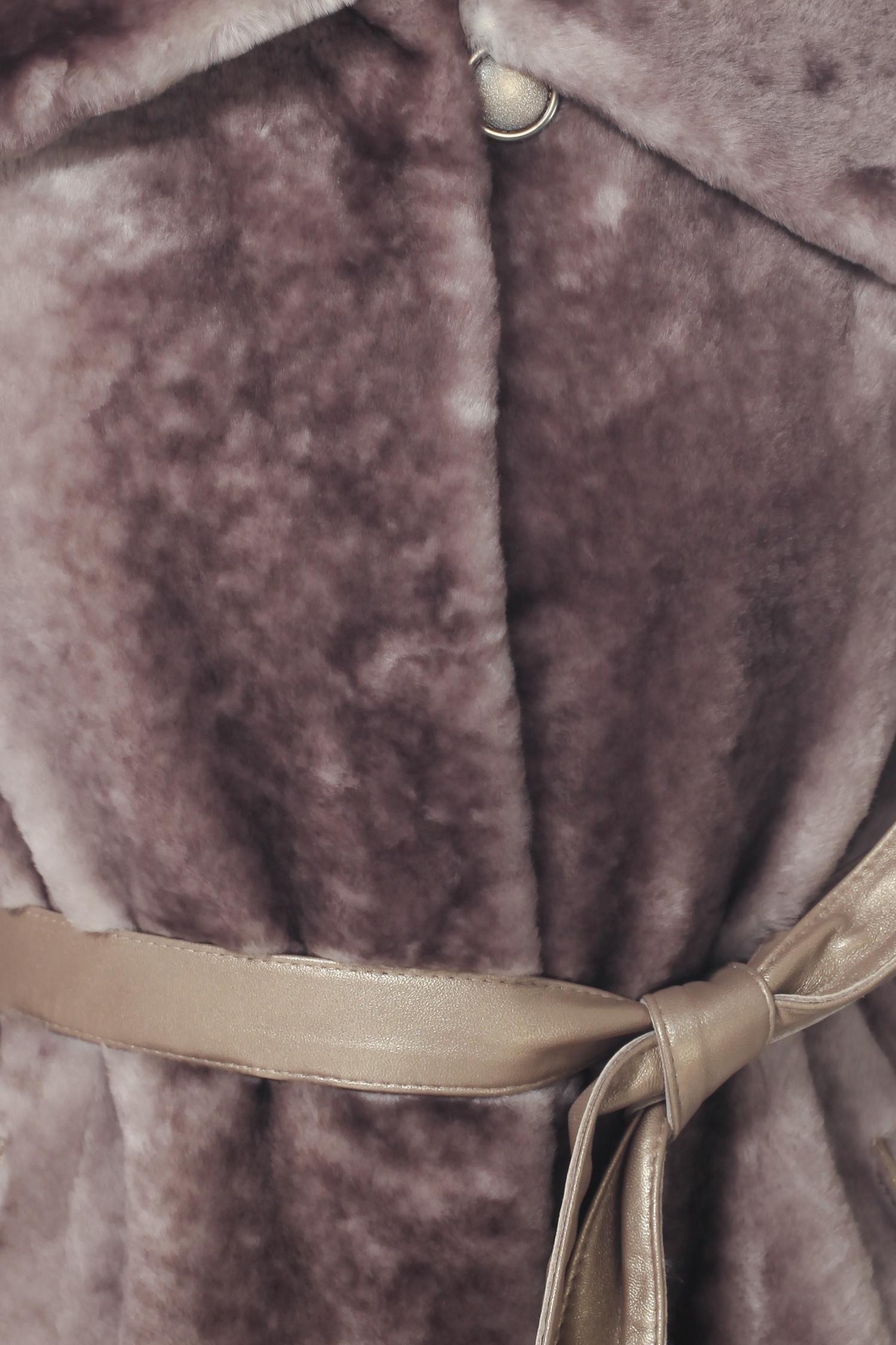 Шуба из астрагана с воротником, без отделки от Московская Меховая Компания