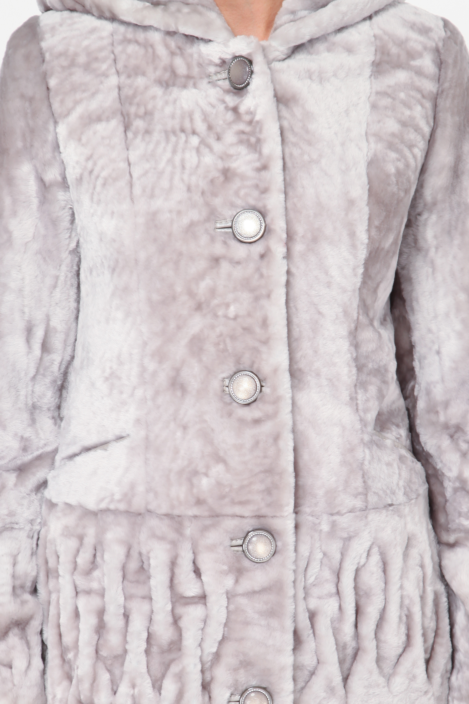 Куртка из мутона с капюшоном, без отделки от Московская Меховая Компания