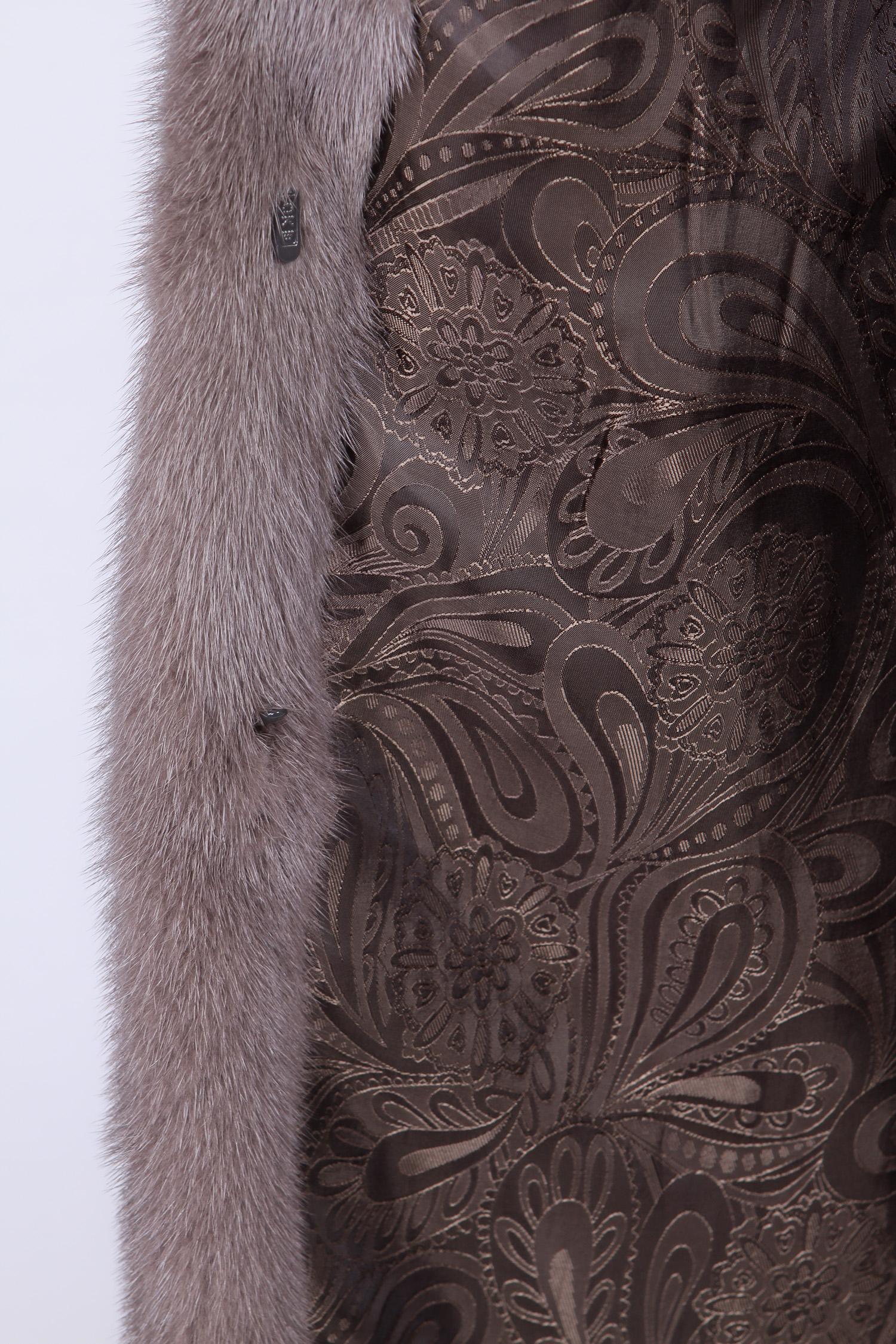 Шуба из норки с воротником, без отделки от Московская Меховая Компания