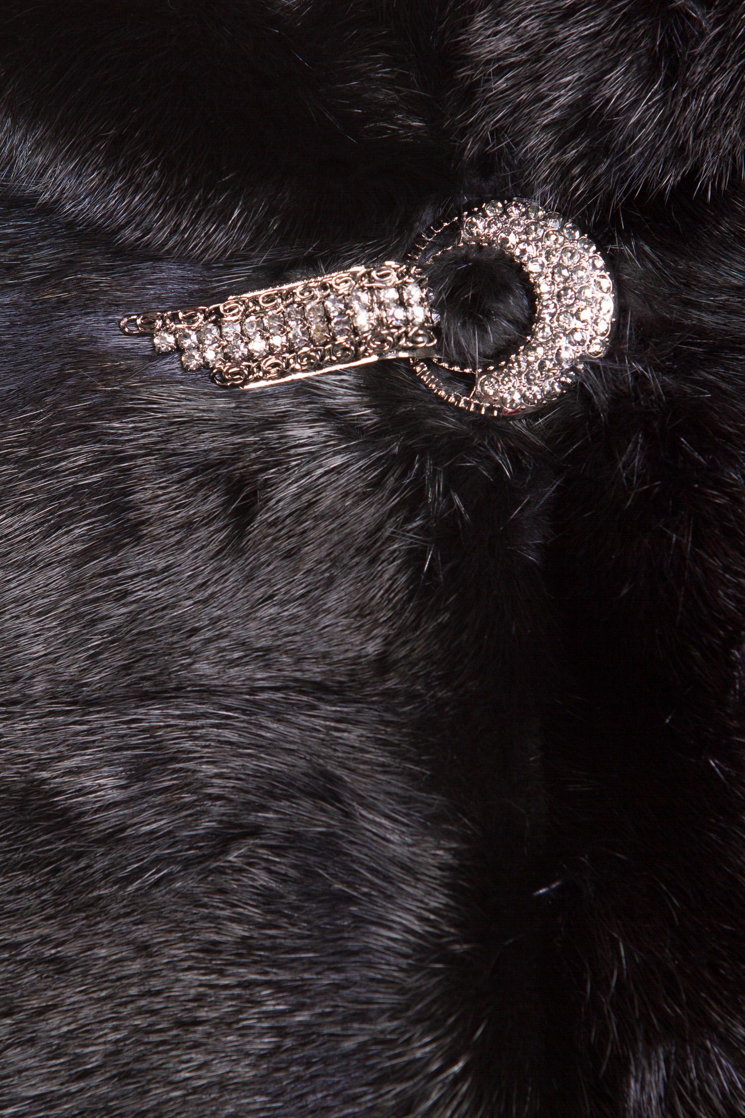 Шуба из норки с капюшоном, без отделки от Московская Меховая Компания