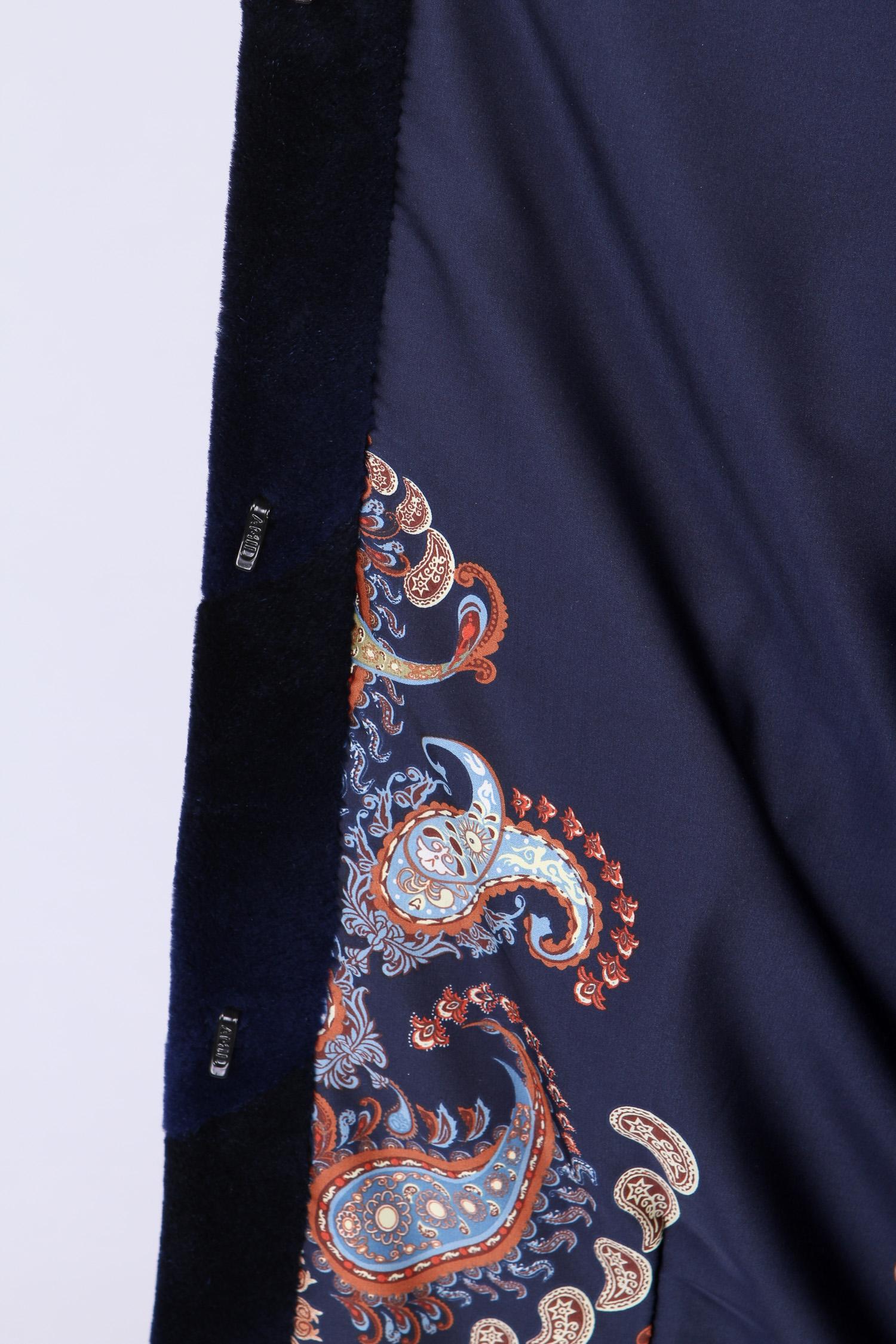 Шуба из нутрии с капюшоном, отделка норка от Московская Меховая Компания