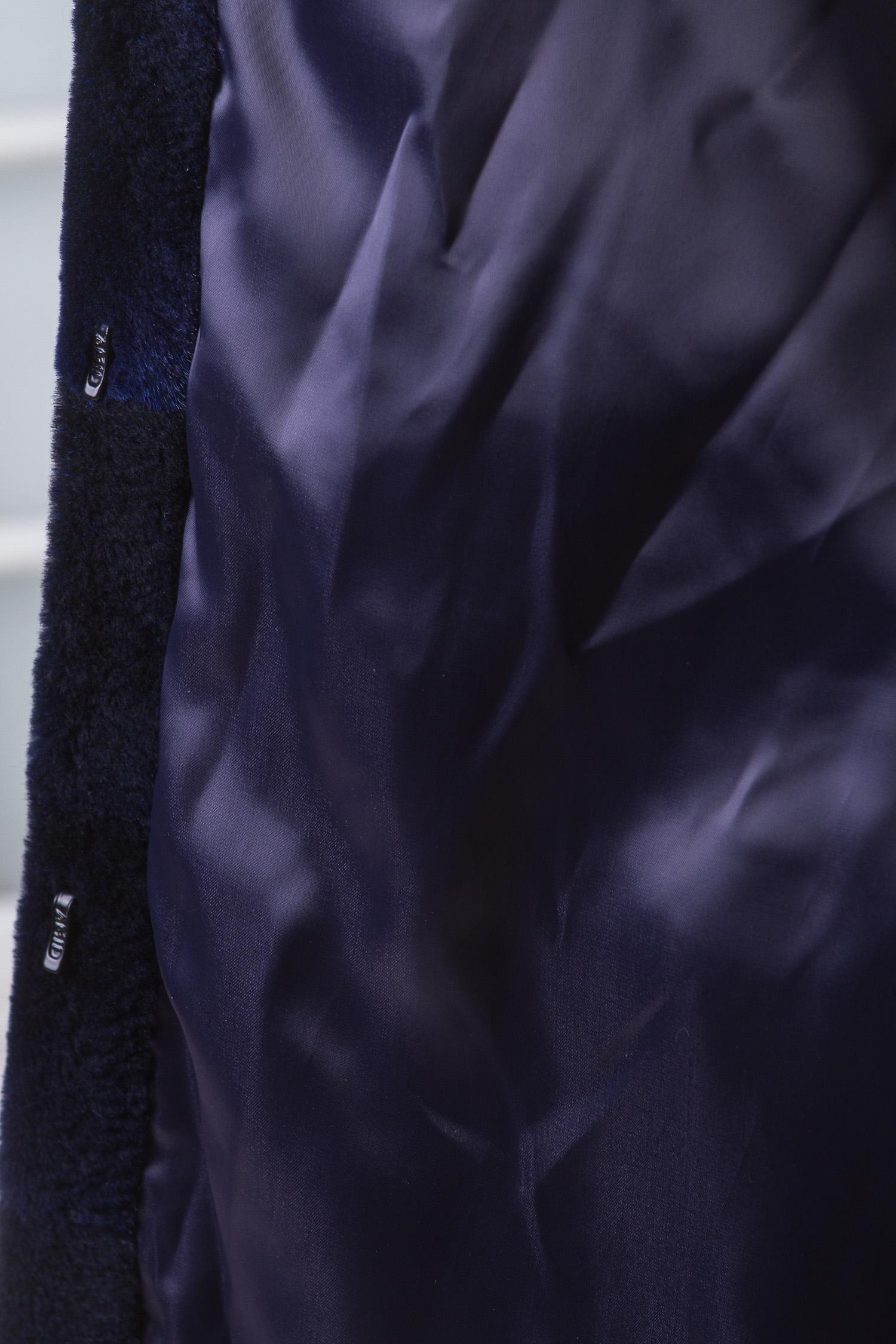 Шуба из нутрии с воротником, отделка норка от Московская Меховая Компания