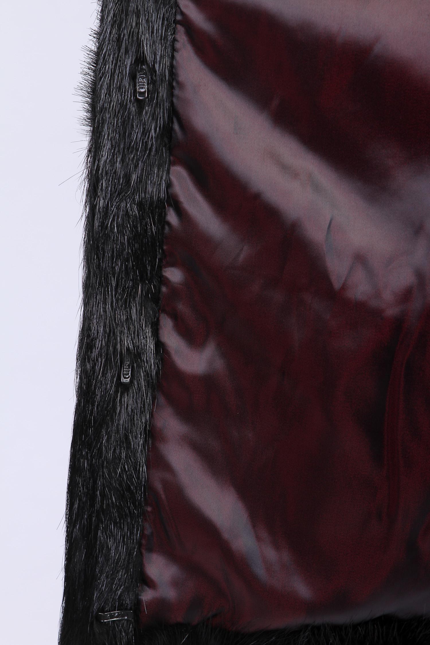Шуба из нутрии с капюшоном, без отделки от Московская Меховая Компания