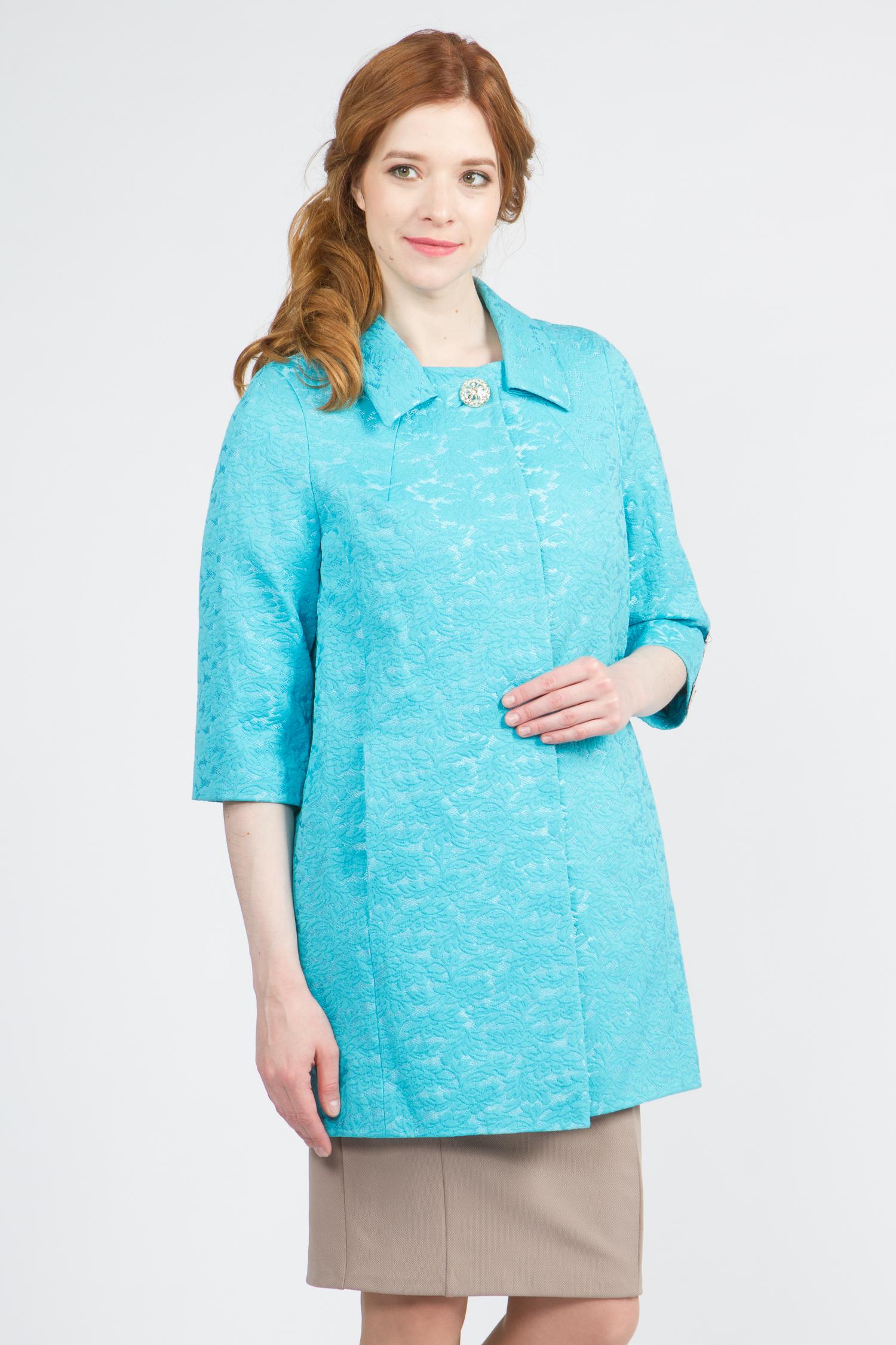 Облегченное женское пальто из текстиля с воротником, без отделки. Производитель: Московская Меховая Компания, артикул: 9075