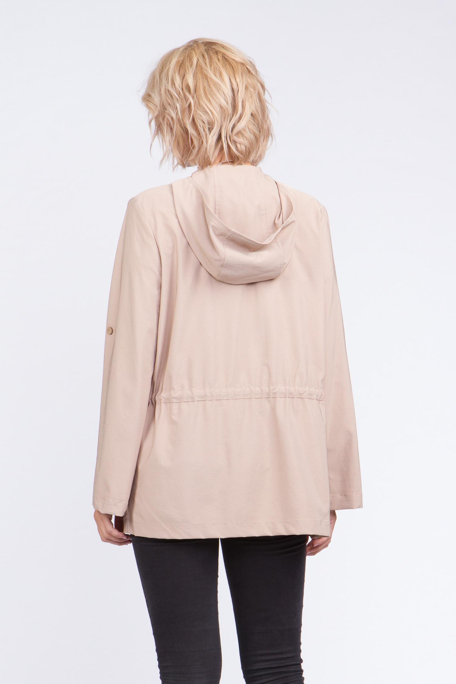 Женская куртка из текстиля с капюшоном, без отделки от Московская Меховая Компания