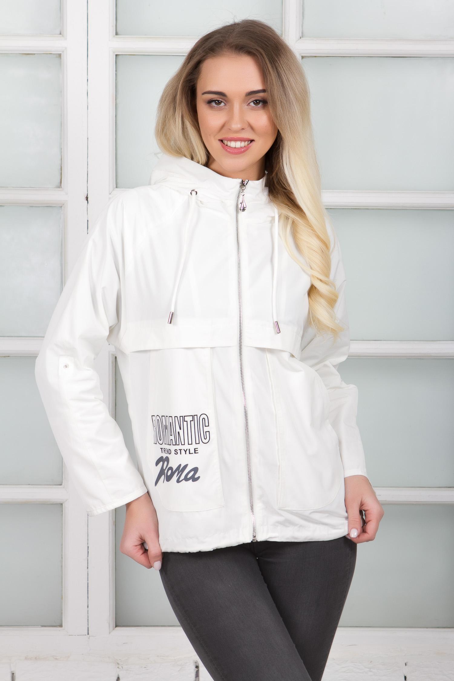 Куртка женская из текстиля из текстиля с капюшоном, без отделки