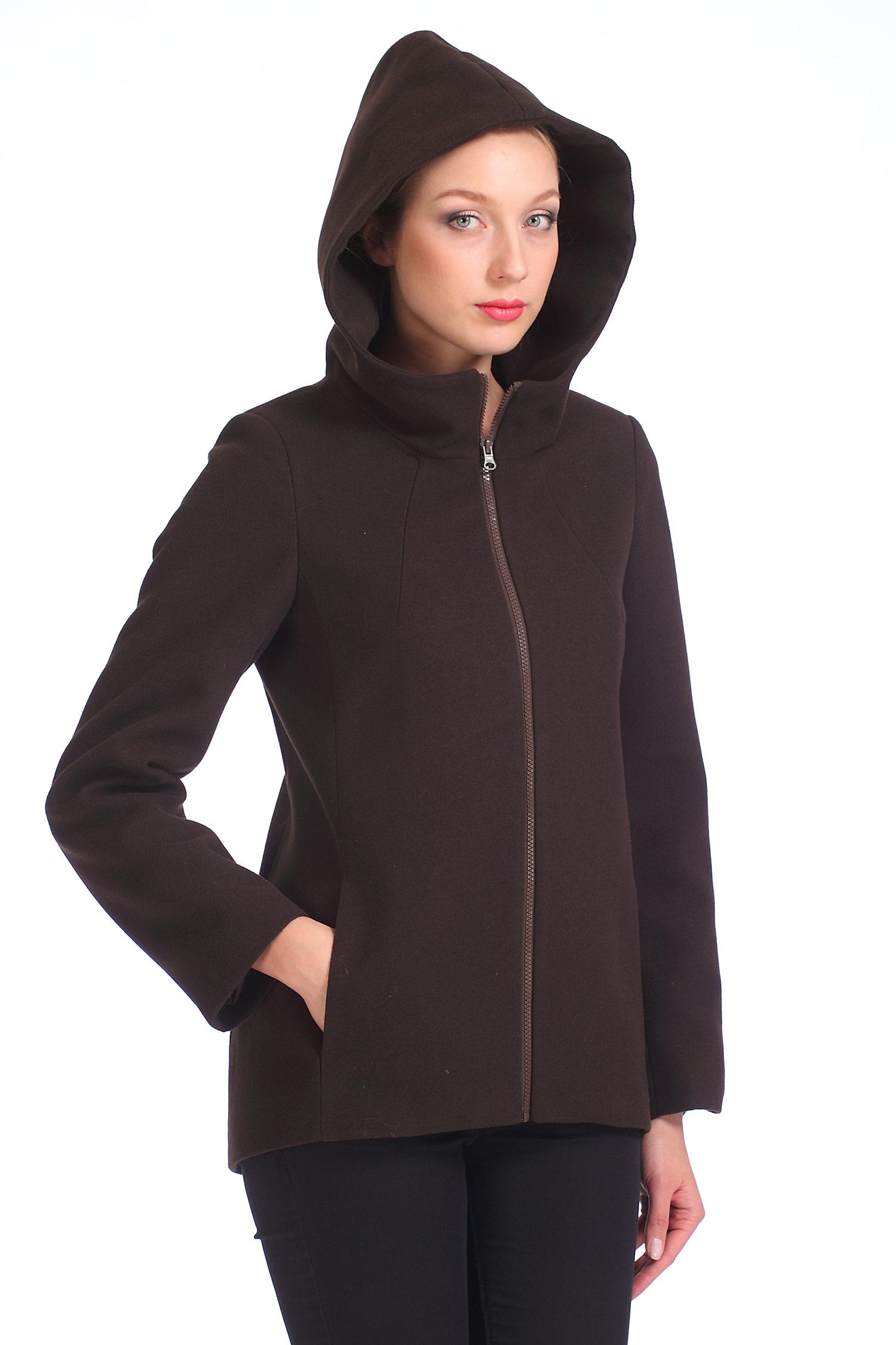 Женское пальто с капюшоном, без отделки<br><br>Воротник: капюшон<br>Длина см: Короткая (51-74 )<br>Материал: Комбинированный состав<br>Цвет: коричневый<br>Вид застежки: центральная<br>Застежка: на молнии<br>Пол: Женский<br>Размер RU: 48