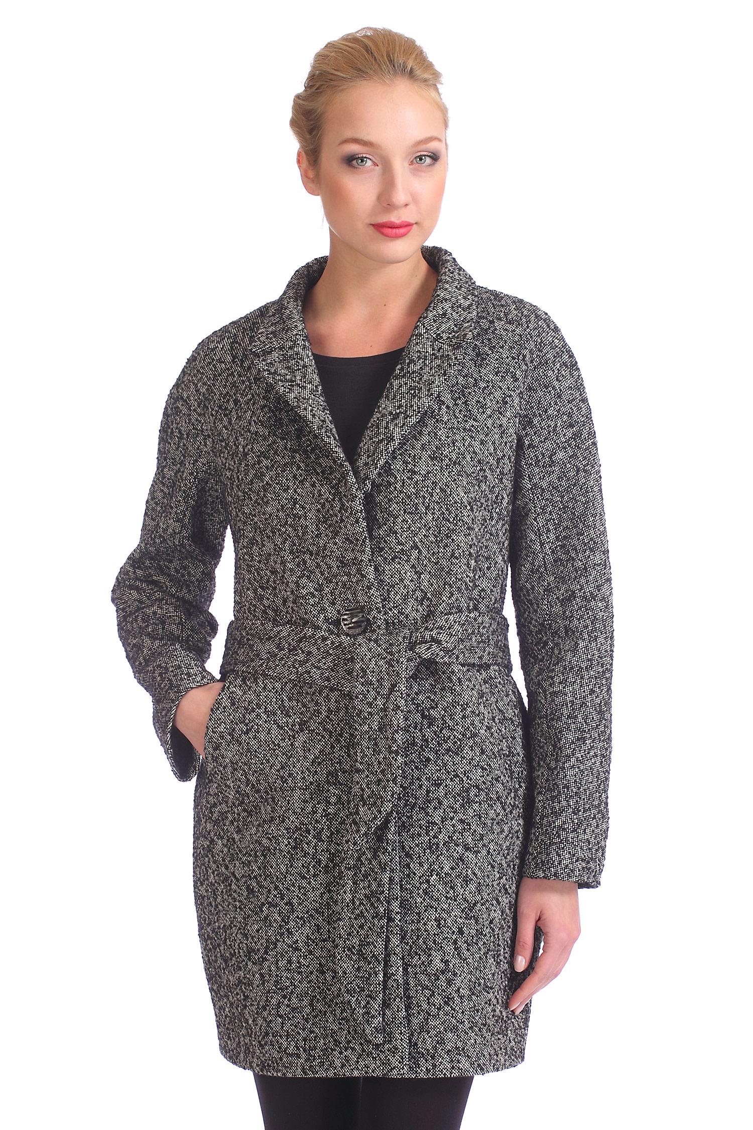 Женское пальто с воротником, без отделки<br><br>Воротник: английский<br>Длина см: Длинная (свыше 90)<br>Материал: Комбинированный состав<br>Цвет: серый<br>Вид застежки: центральная<br>Застежка: на пуговицы<br>Пол: Женский<br>Размер RU: 48