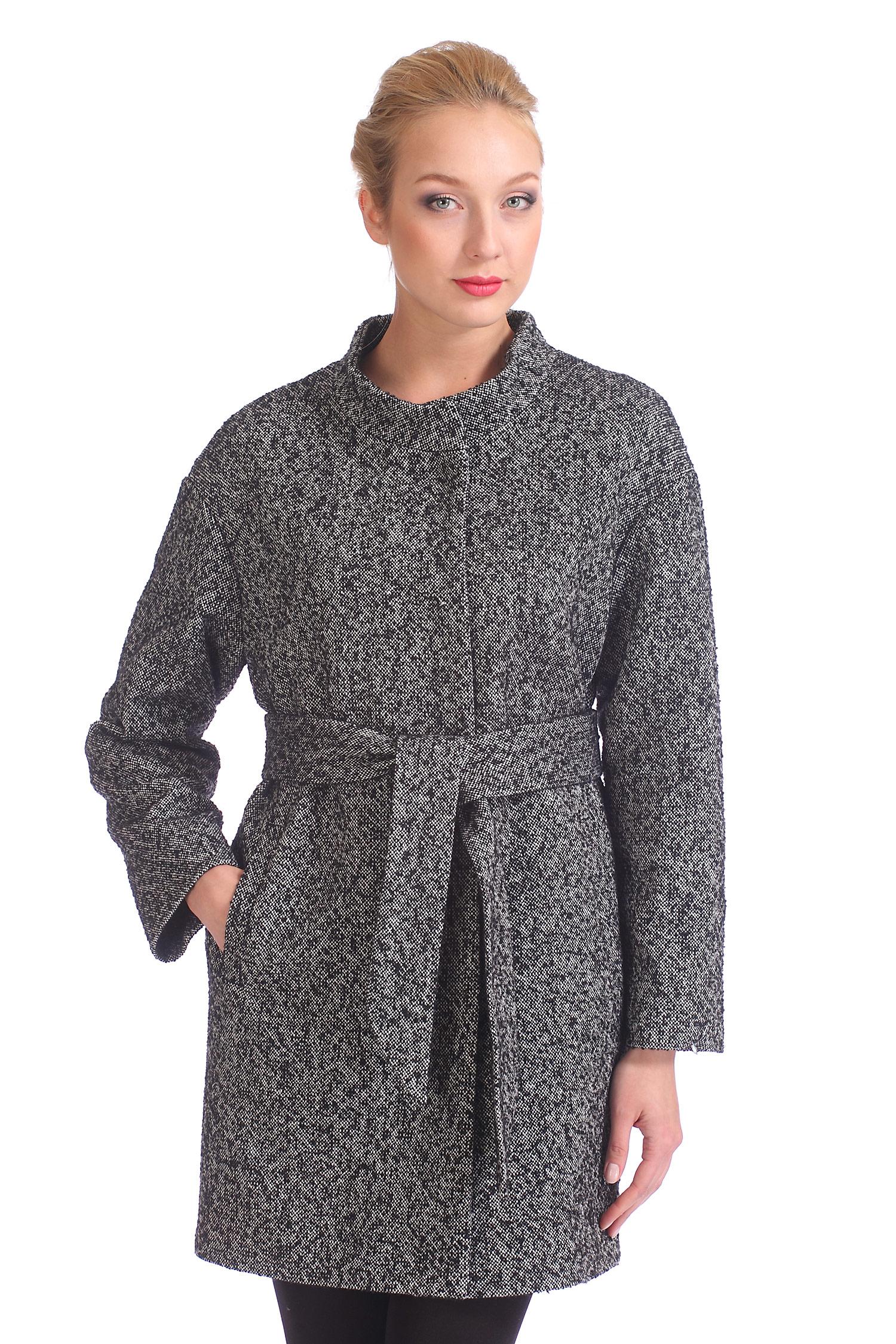 Женское пальто с воротником, без отделки<br><br>Воротник: стойка<br>Длина см: Длинная (свыше 90)<br>Материал: Комбинированный состав<br>Цвет: серый<br>Вид застежки: центральная<br>Застежка: на кнопки<br>Пол: Женский<br>Размер RU: 50