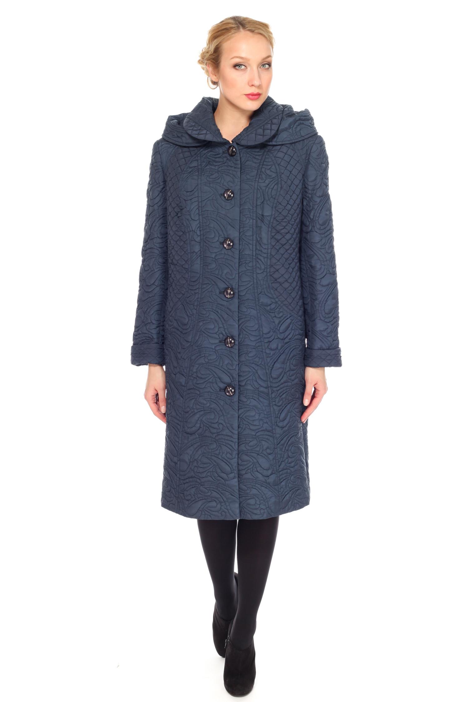 Женское пальто с капюшоном, без отделки от Московская Меховая Компания