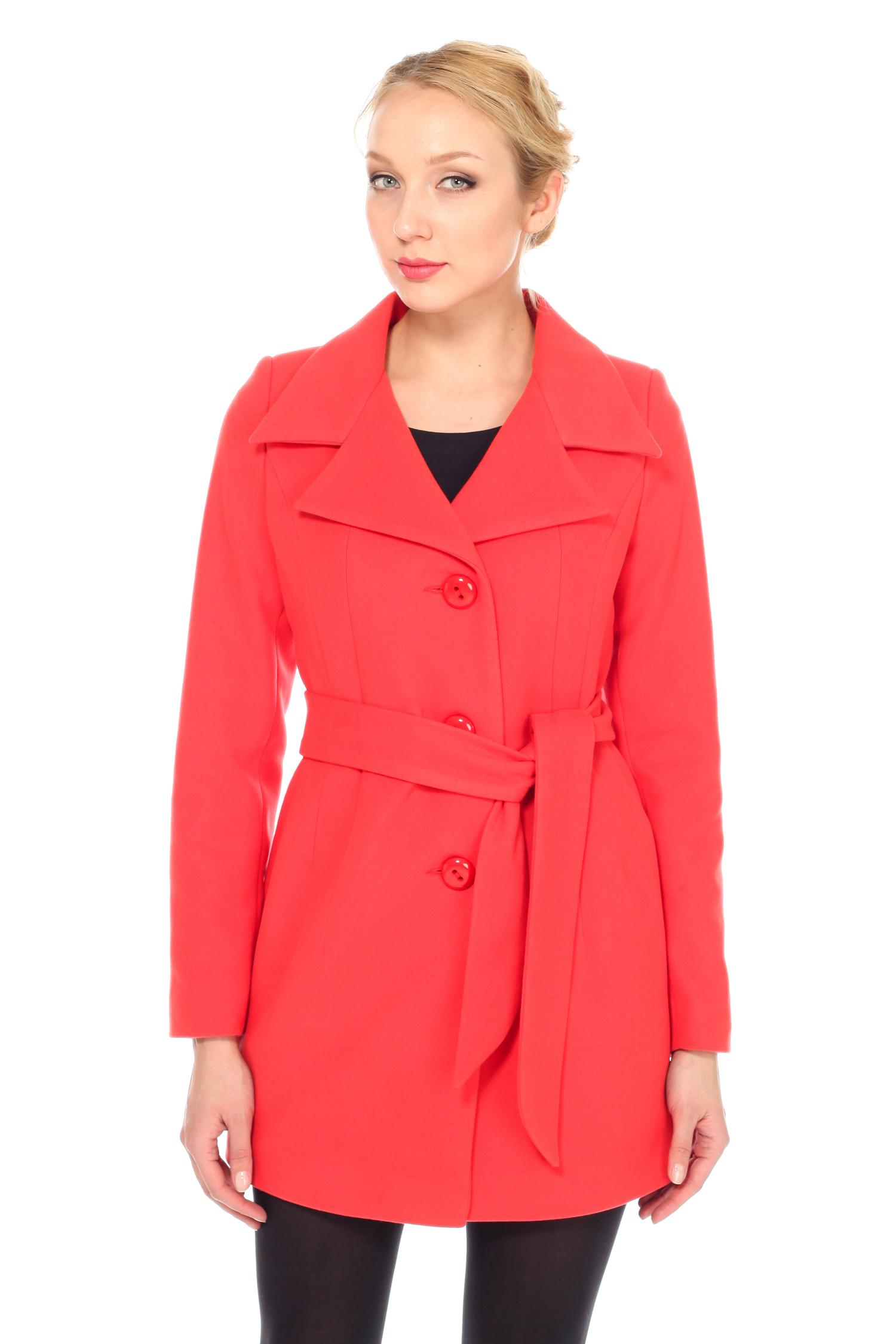 Женское пальто с воротником, без отделки<br><br>Воротник: английский<br>Длина см: Средняя (75-89 )<br>Материал: Комбинированный состав<br>Цвет: красный<br>Вид застежки: центральная<br>Застежка: на пуговицы<br>Пол: Женский<br>Размер RU: 42