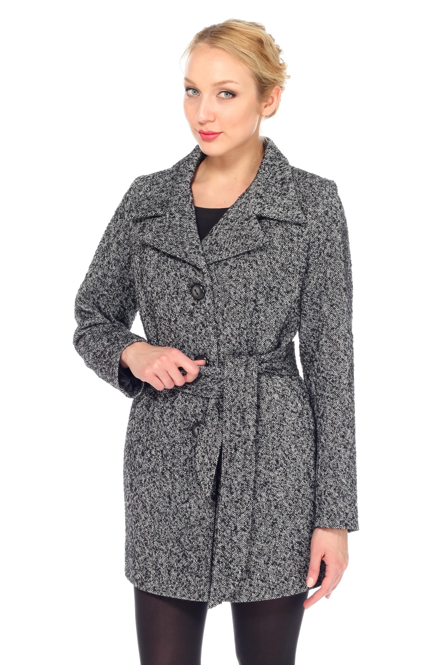 Женское пальто с воротником, без отделки<br><br>Воротник: английский<br>Длина см: Средняя (75-89 )<br>Материал: Комбинированный состав<br>Цвет: серый<br>Вид застежки: центральная<br>Застежка: на пуговицы<br>Пол: Женский<br>Размер RU: 40