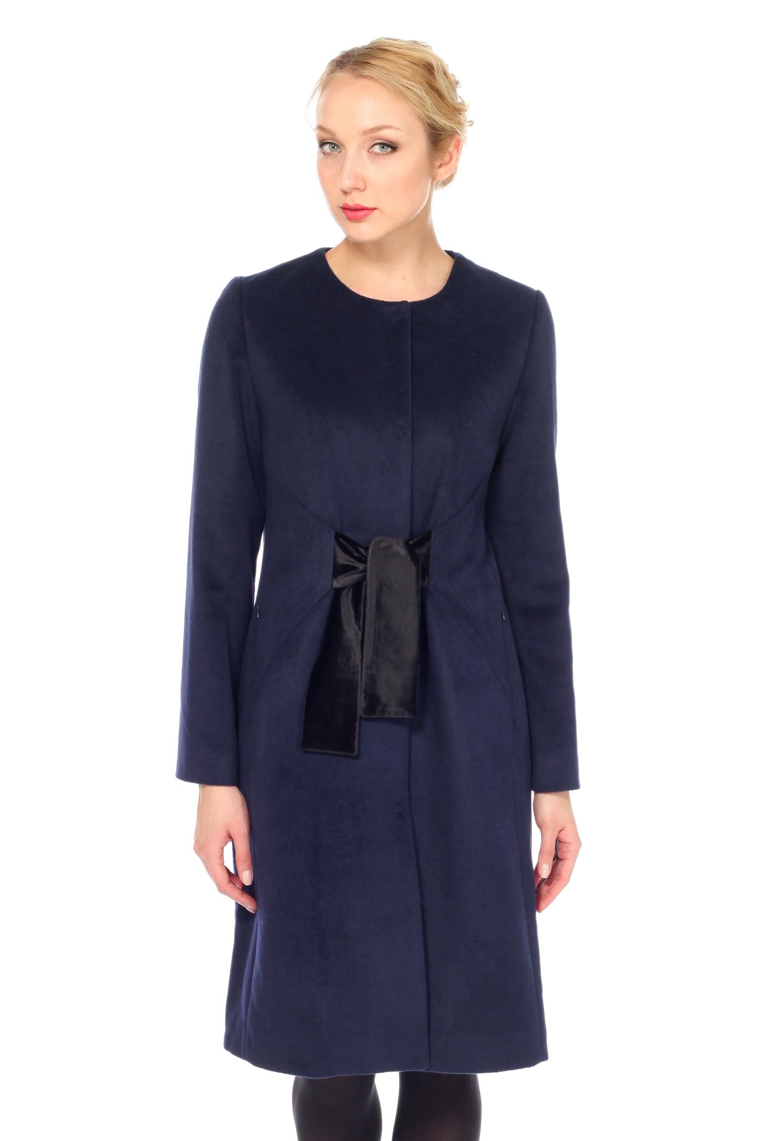 Женское пальто с воротником, без отделки<br><br>Воротник: без воротника<br>Длина см: Длинная (свыше 90)<br>Материал: Комбинированный состав<br>Цвет: синий<br>Вид застежки: центральная<br>Застежка: на кнопки<br>Пол: Женский<br>Размер RU: 56