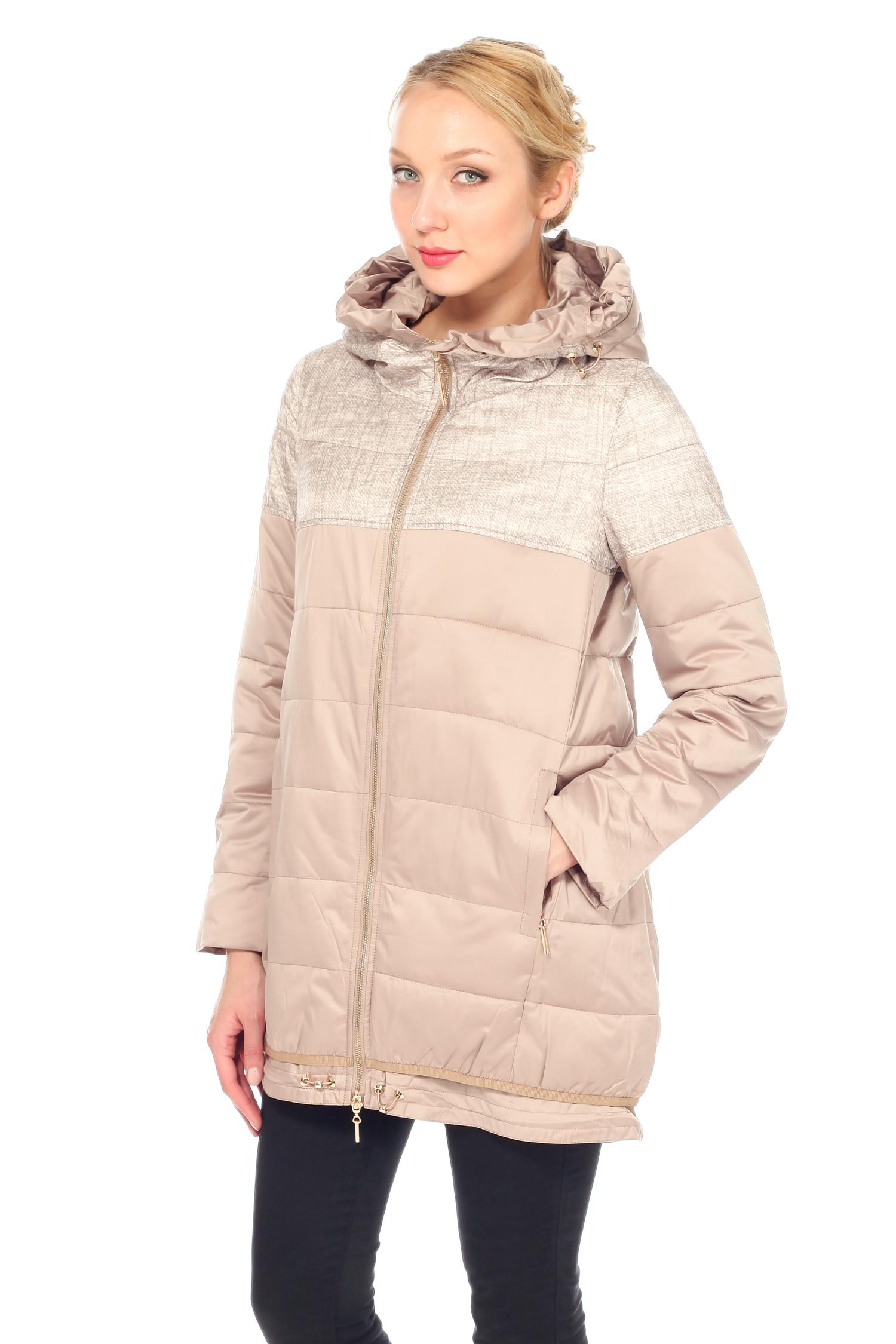 Куртка женская из текстиля с капюшоном, без отделкиКуртка от Московской меховой компании выполнена из текстиля бежевого цвета. Модель прямого силуэта с застежкой на молнию. Детали: несъемный капюшон; боковые карманы без застежки; капюшон и низ изделия закреплены кулиской; подкладка из полиэстера.<br><br>Воротник: капюшон<br>Длина см: Средняя (75-89 )<br>Материал: Текстиль<br>Цвет: бежевый<br>Вид застежки: центральная<br>Застежка: на молнии<br>Пол: Женский<br>Размер RU: 54