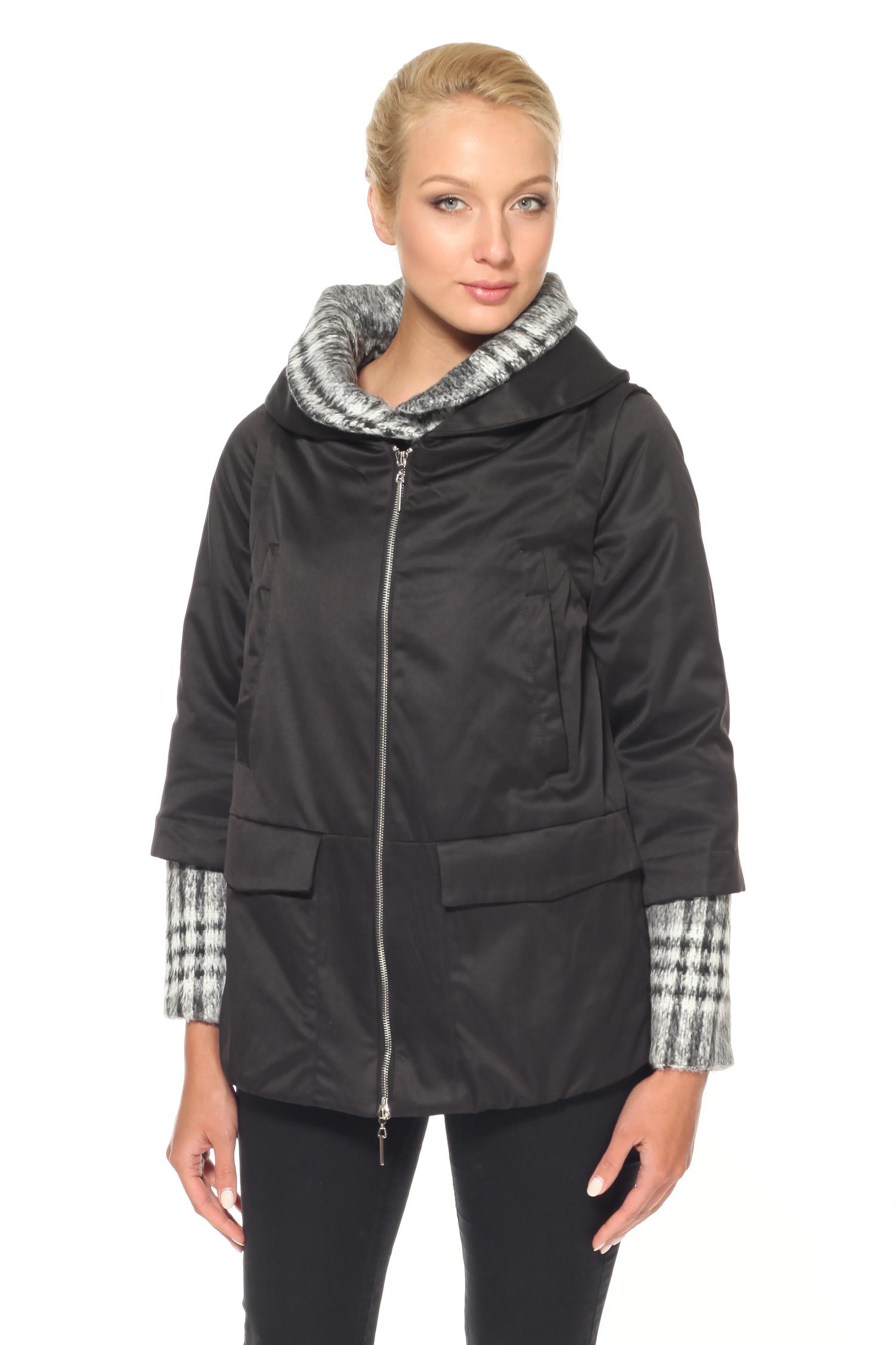 Куртка женская с воротником, без отделки