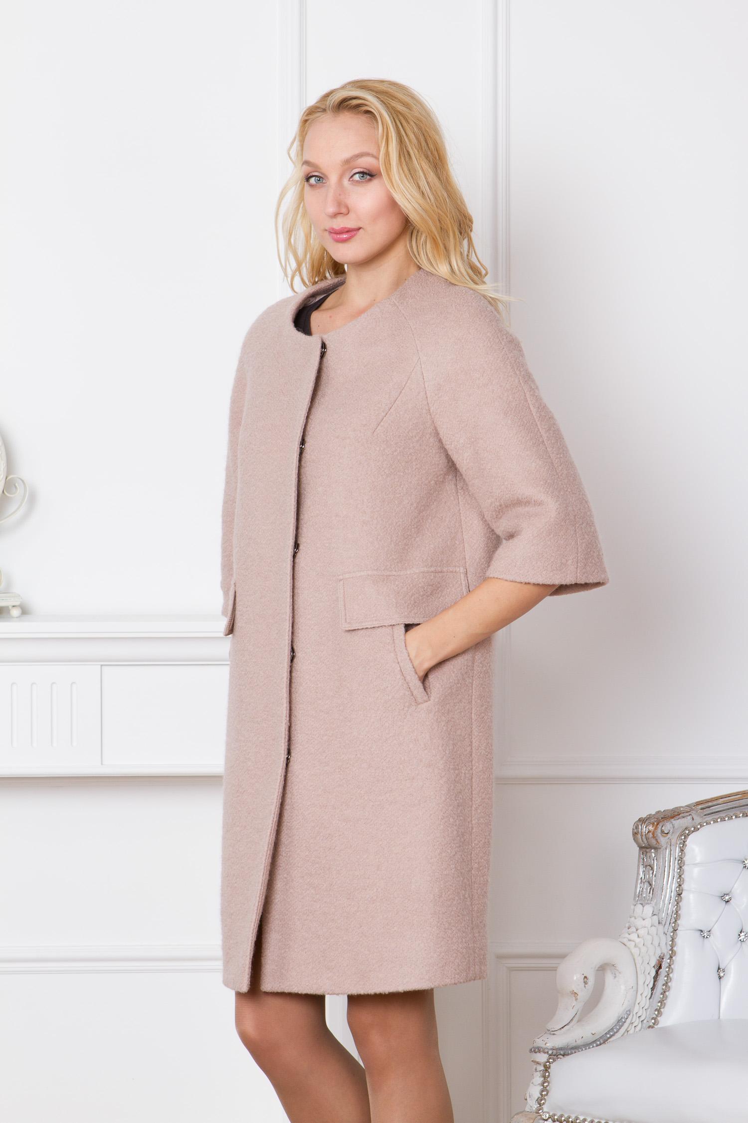 Женское пальто с капюшоном, отделка кролик