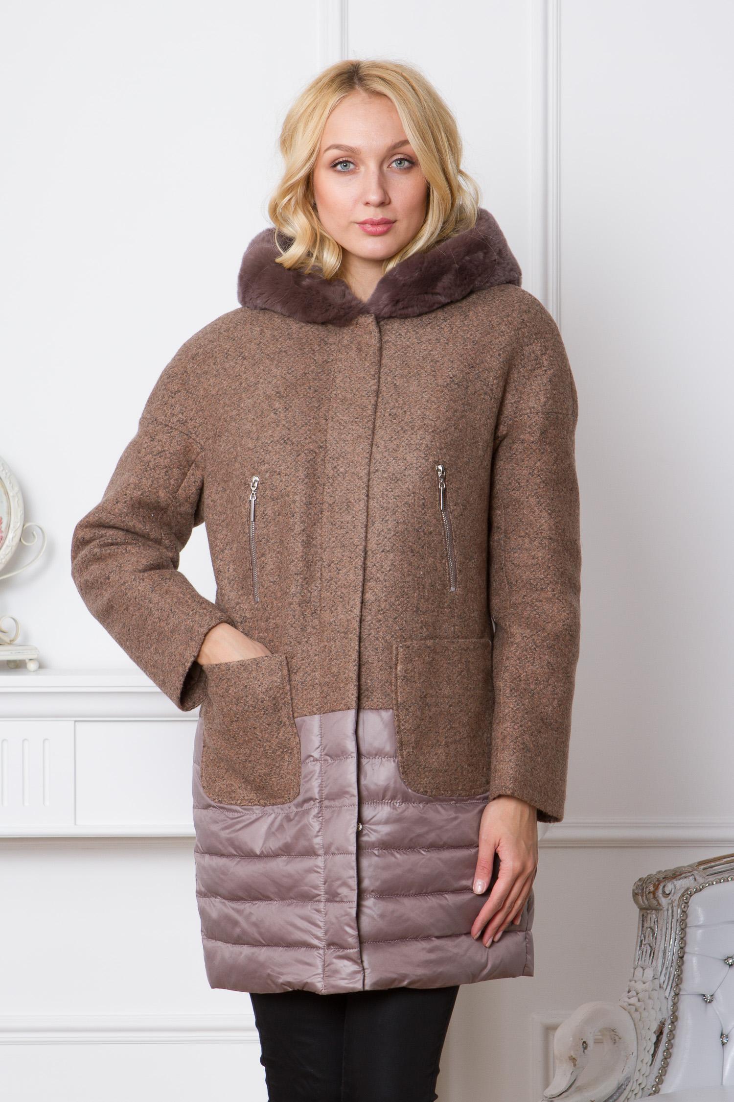 Женское пальто с капюшоном, отделка кролик<br><br>Воротник: капюшон<br>Длина см: Средняя (75-89 )<br>Материал: Текстиль<br>Цвет: бежевый<br>Вид застежки: потайная<br>Застежка: на молнии<br>Пол: Женский<br>Размер RU: 48