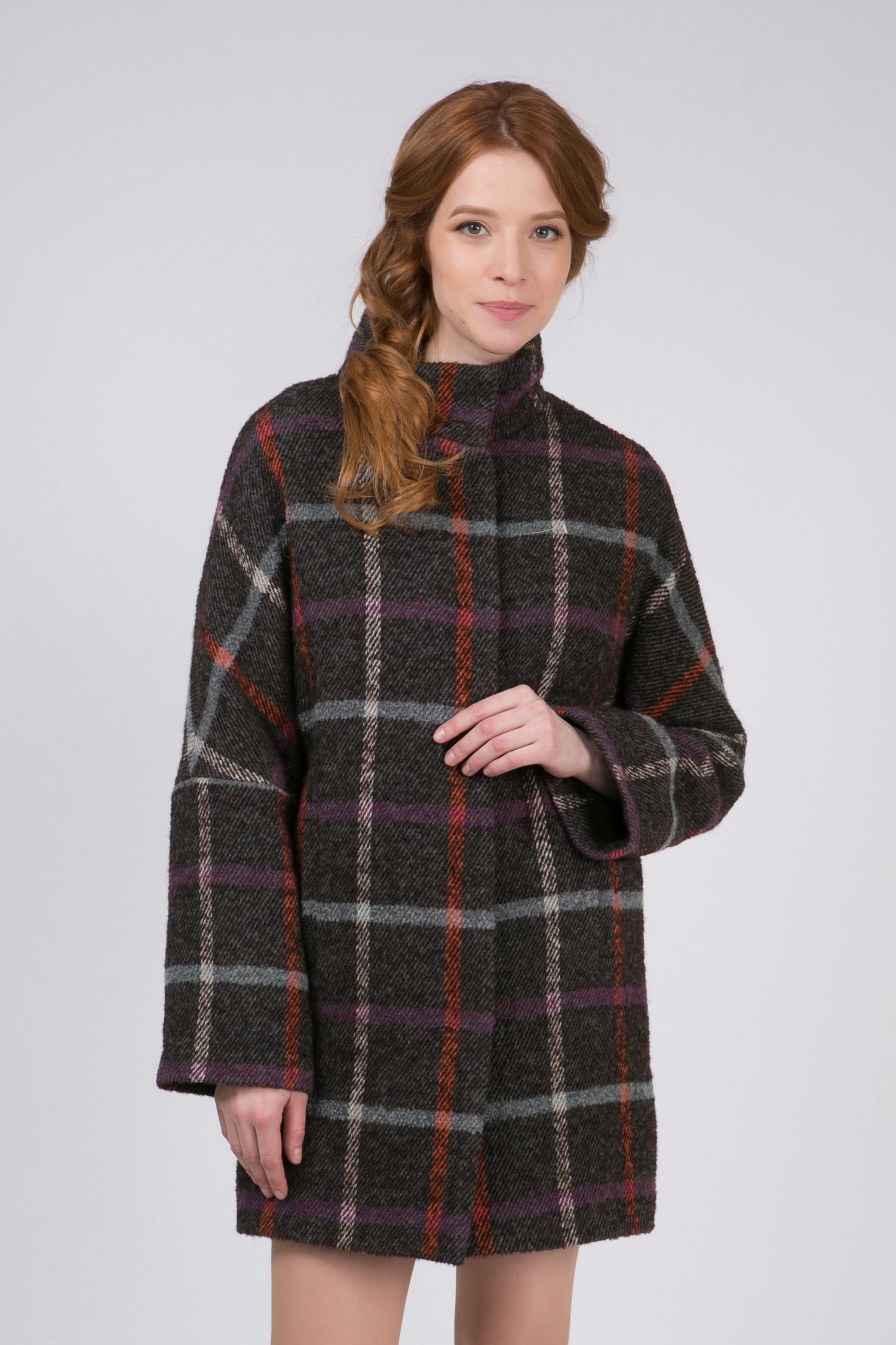 Женское пальто с воротником, без отделки. Производитель: Московская Меховая Компания, артикул: 8782