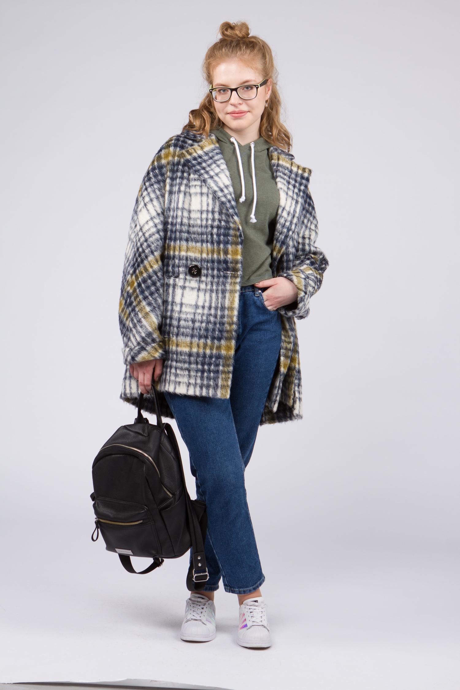 Женское пальто с воротником, без отделки. Производитель: Московская Меховая Компания, артикул: 8781
