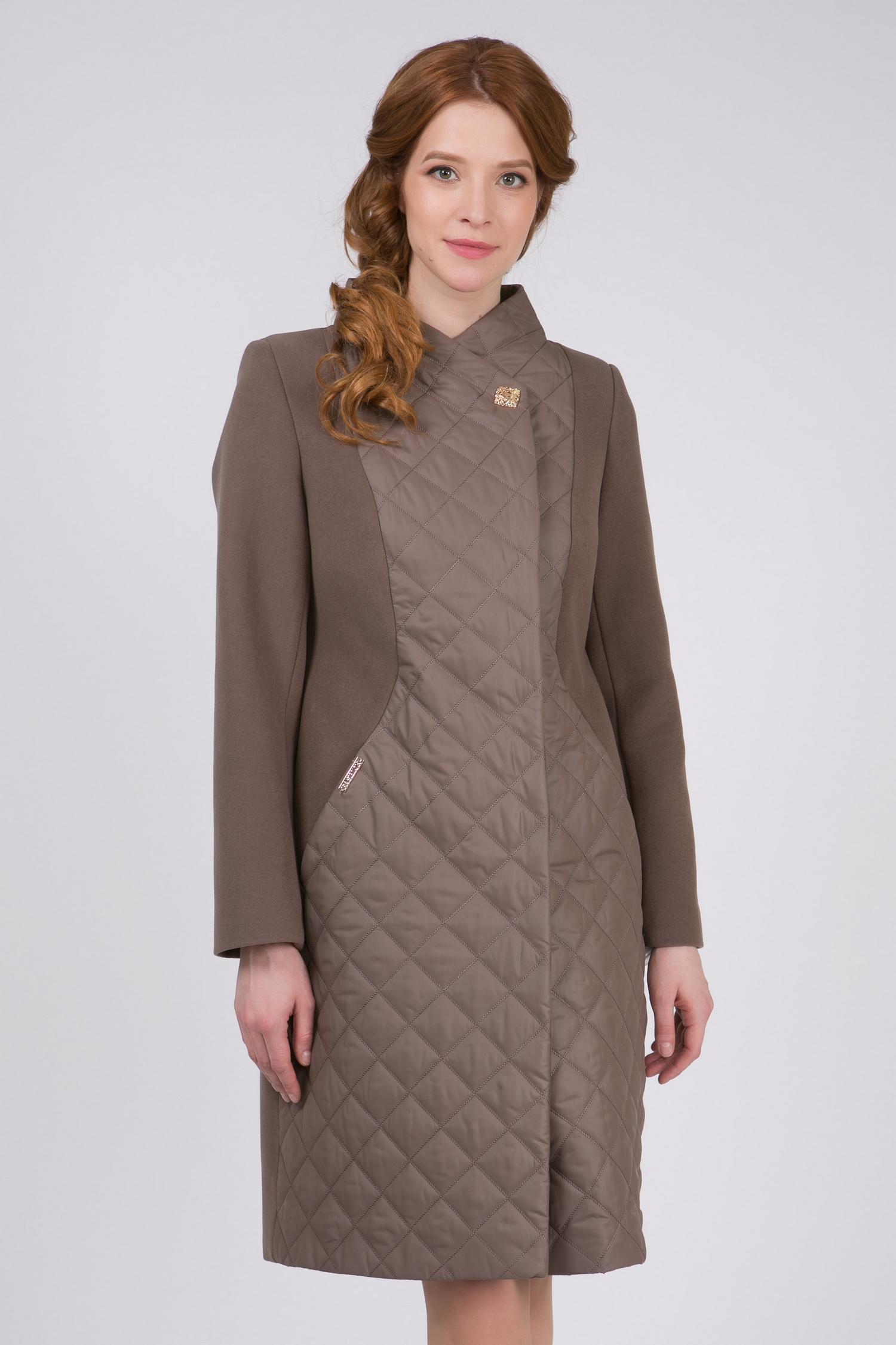 Пальто женское из текстиля с воротником, без отделки. Производитель: Московская Меховая Компания, артикул: 8787