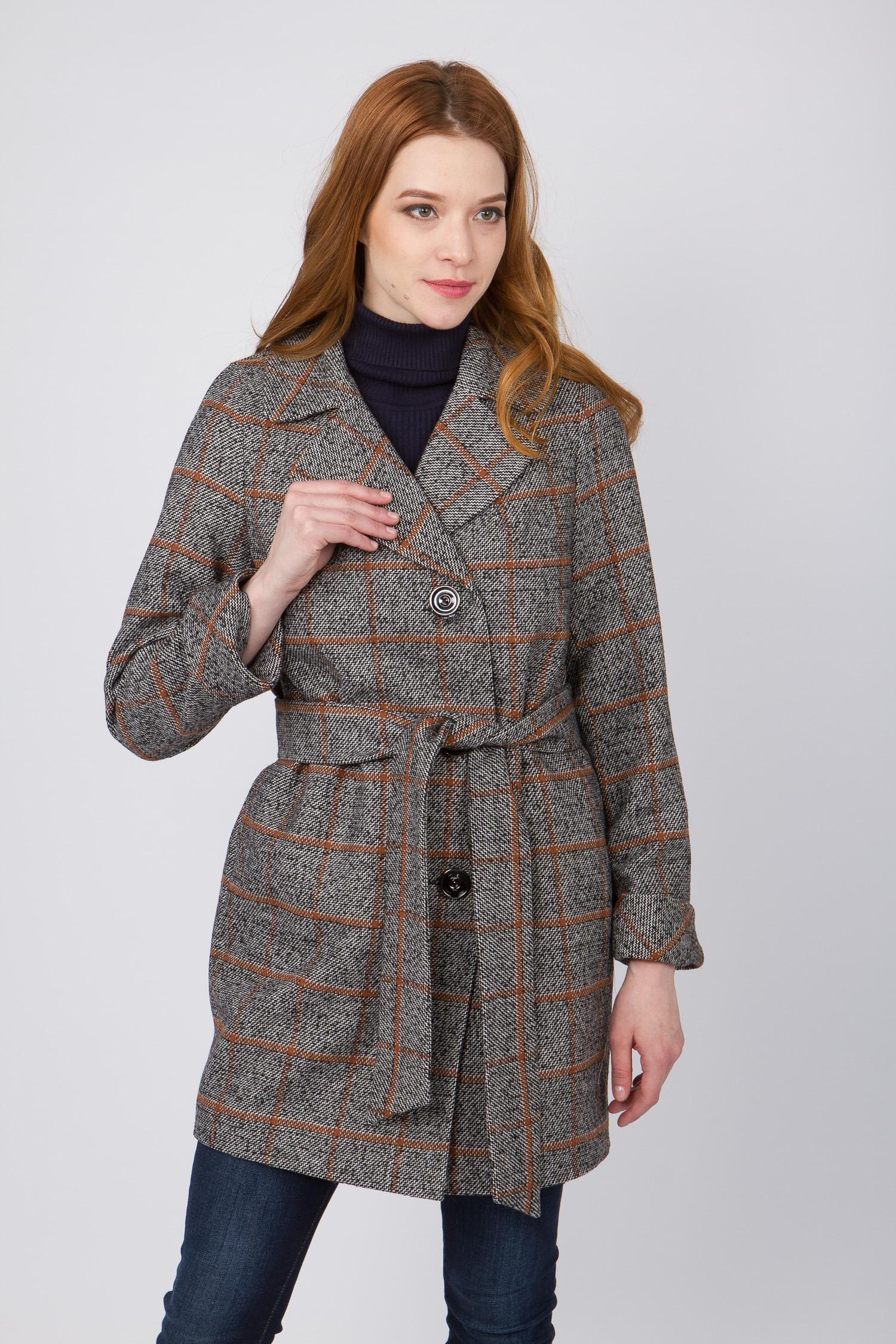 Женское пальто с воротником, без отделки<br><br>Воротник: английский<br>Длина см: Средняя (75-89 )<br>Материал: Комбинированный состав<br>Цвет: серый<br>Вид застежки: центральная<br>Застежка: на пуговицы<br>Пол: Женский<br>Размер RU: 50