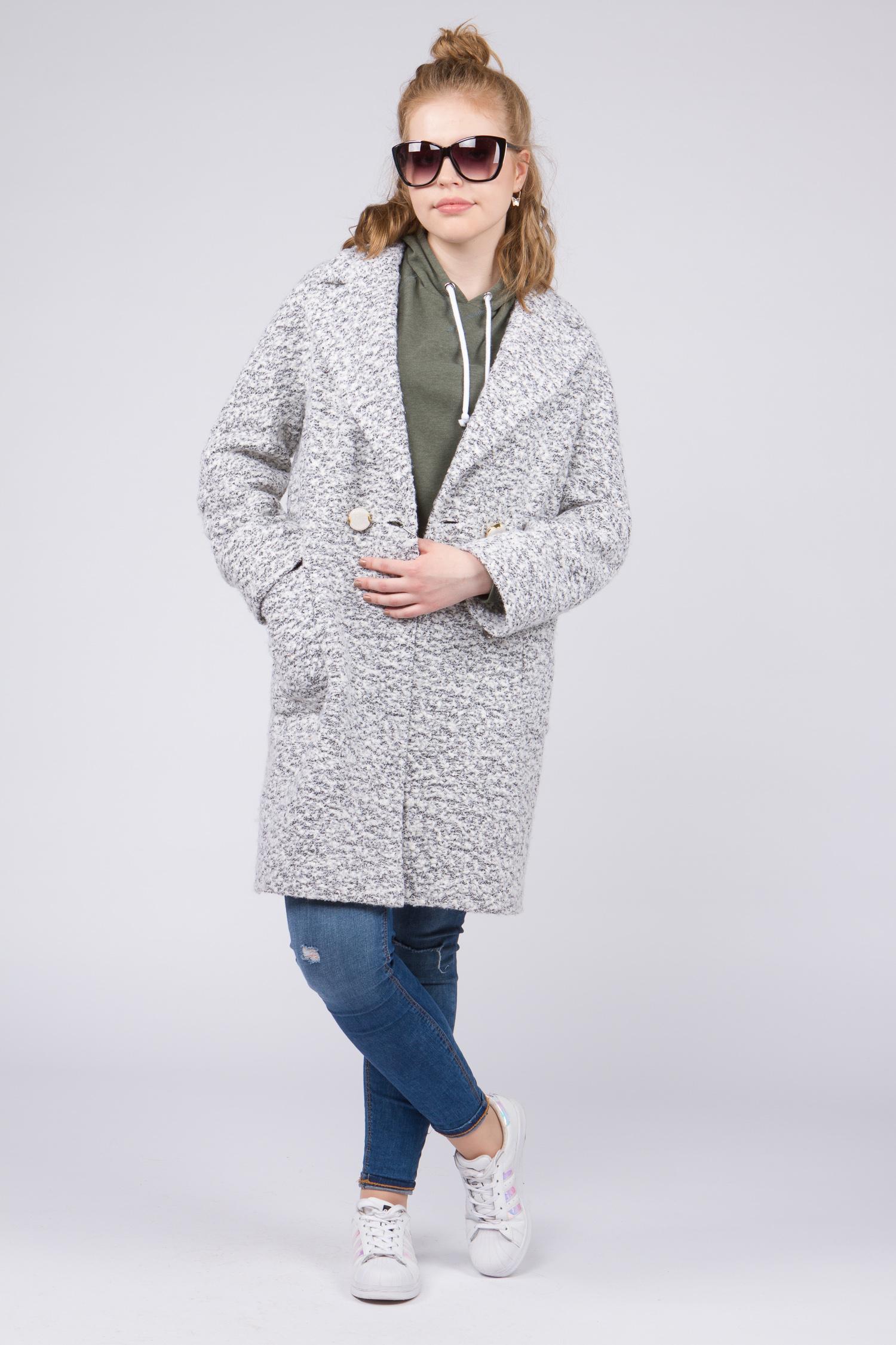Женское пальто с воротником, без отделки. Производитель: Московская Меховая Компания, артикул: 8955