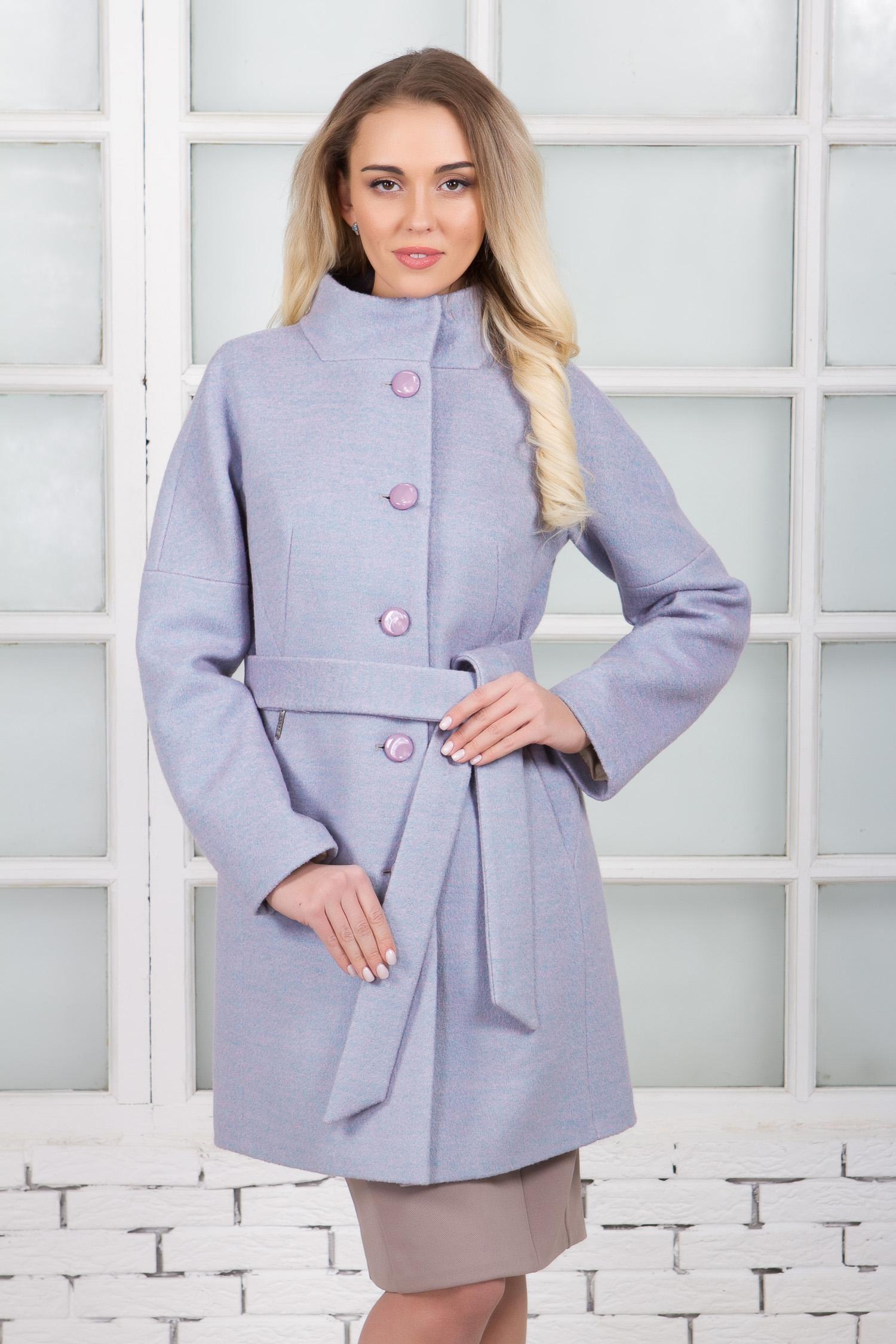 Женское полупальто из текстиля с воротником, без отделки Женское полупальто из текстиля с воротником, без отделки