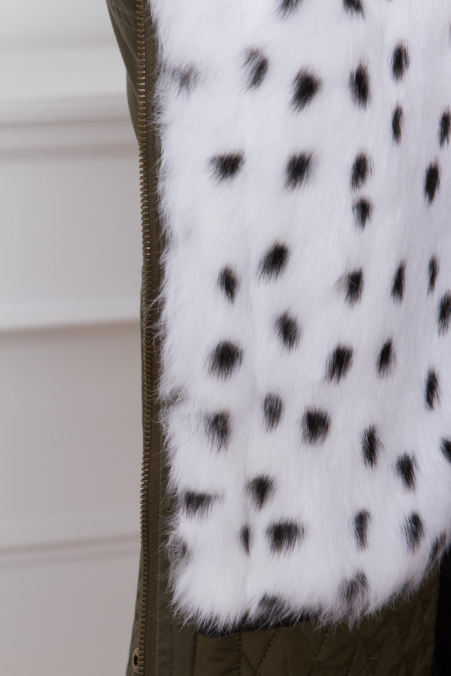 Парка женская с капюшоном, отделка натуральным мехом песца от Московская Меховая Компания