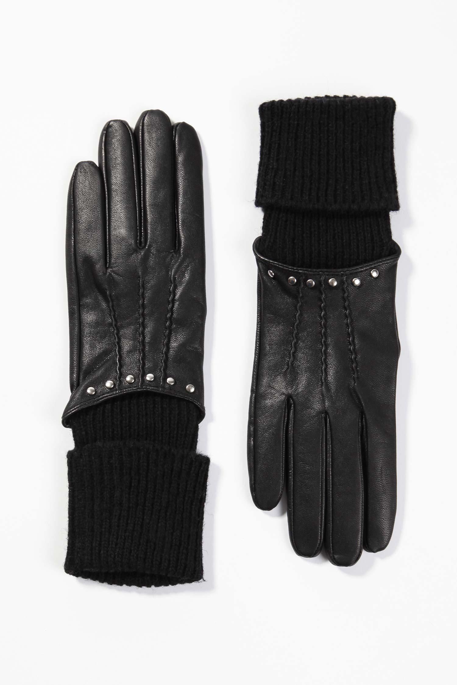 Перчатки из натуральной кожи<br><br>Материал: Натуральная кожа<br>Цвет: Черный