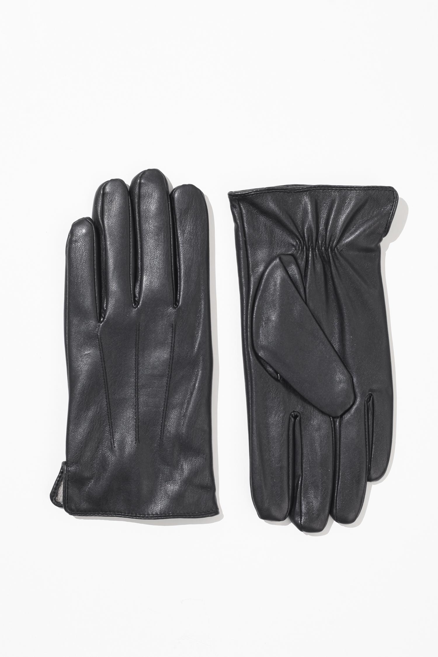 Перчатки мужские из натуральной кожи<br><br>Материал: Кожа<br>Цвет: Черный<br>Пол: Мужской