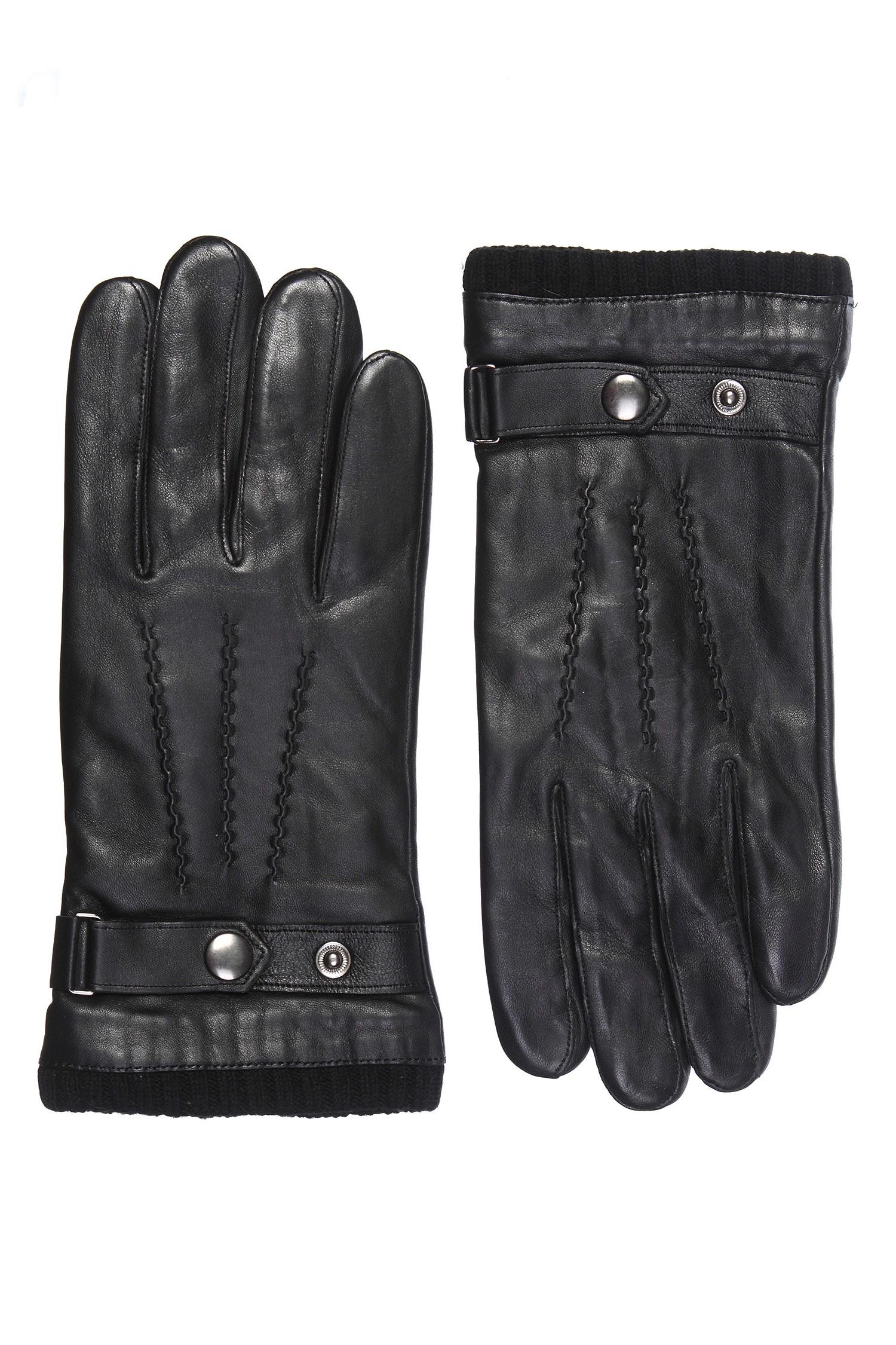 Перчатки мужские из натуральной кожи<br><br>Материал: Кожа овчина<br>Цвет: черный<br>Пол: Мужской<br>Размер RU: 8