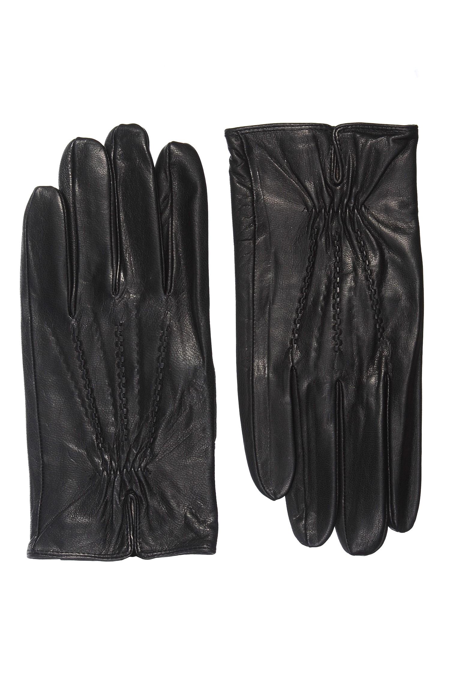 Перчатки мужские из натуральной кожи<br><br>Материал: Кожа овчина<br>Цвет: черный<br>Пол: Мужской<br>Размер RU: 10