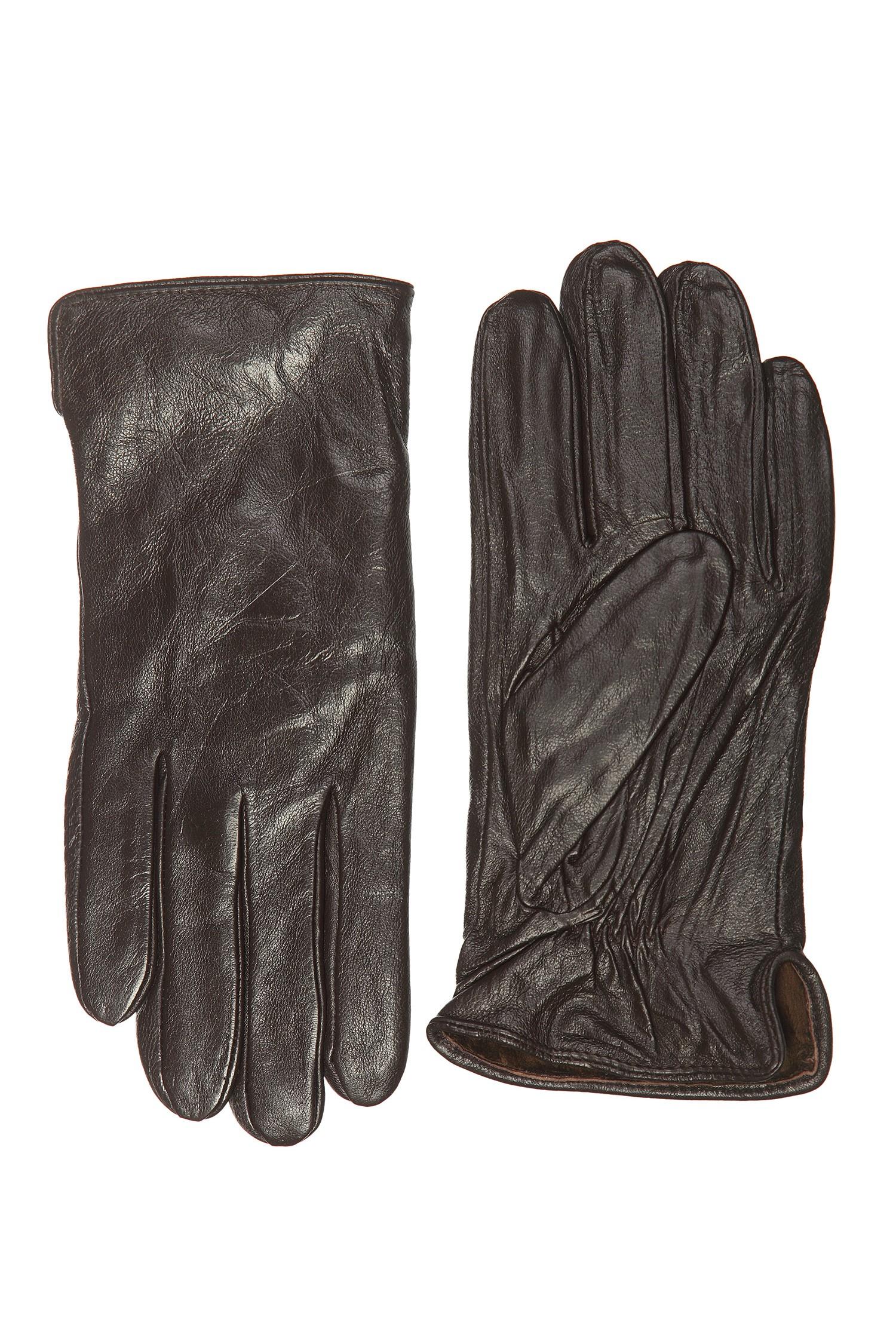 Перчатки мужские из натуральной кожи<br><br>Материал: Кожа овчина<br>Цвет: коричневый<br>Пол: Мужской