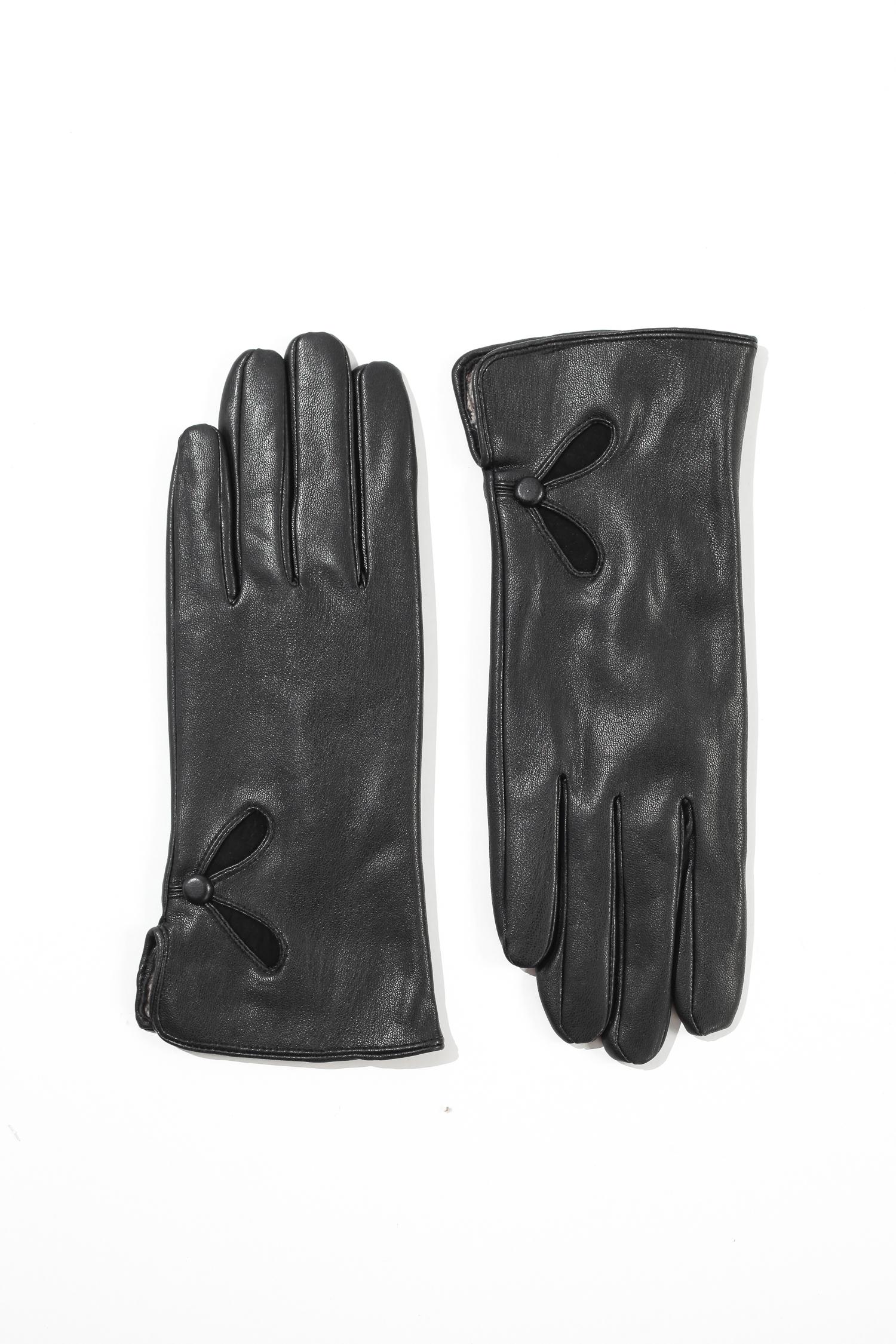 Перчатки женские из натуральной кожи<br><br>Материал: Кожа овчина<br>Цвет: черный<br>Пол: Женский<br>Размер RU: 8