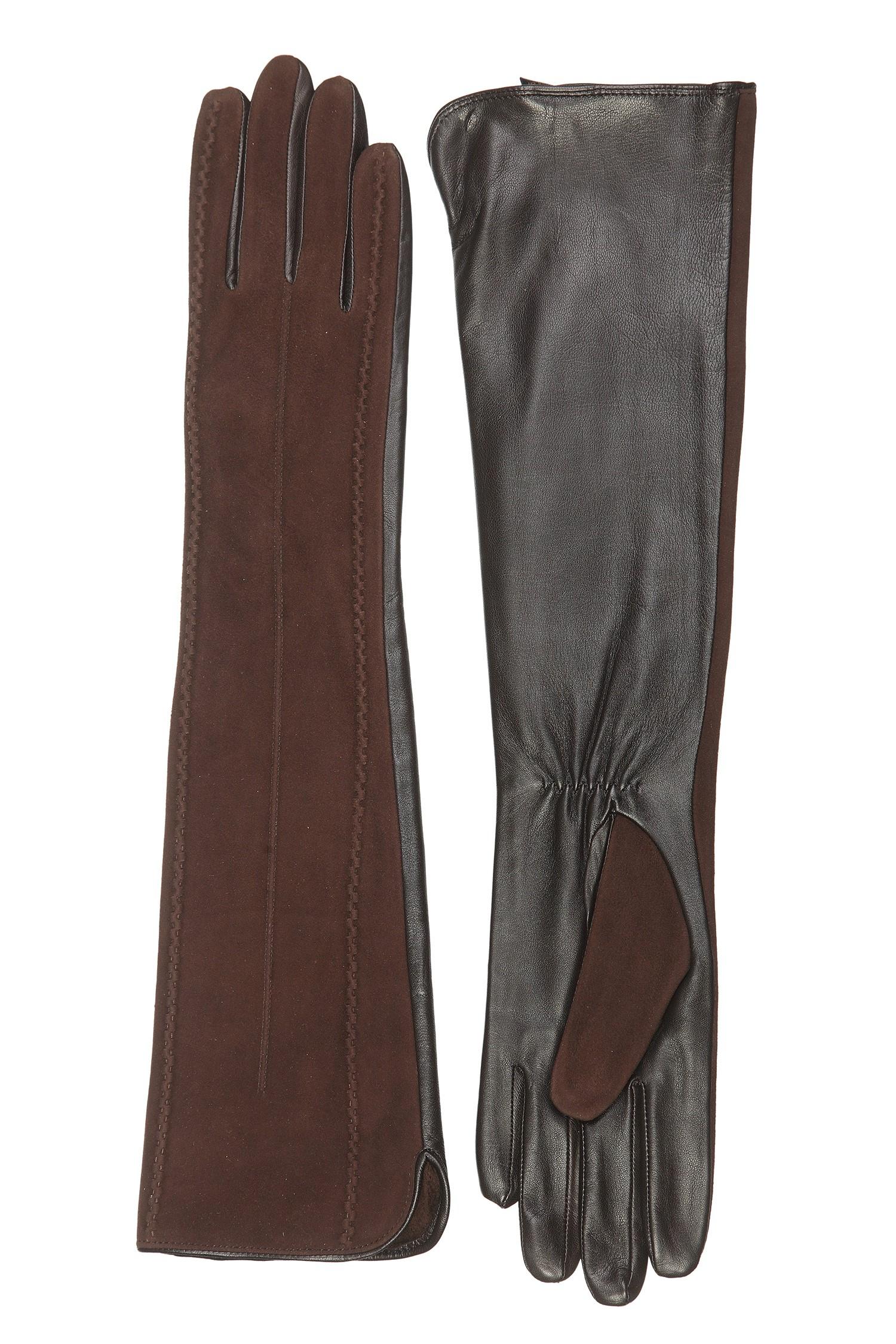 Фото #1: Перчатки женские из натуральной замши