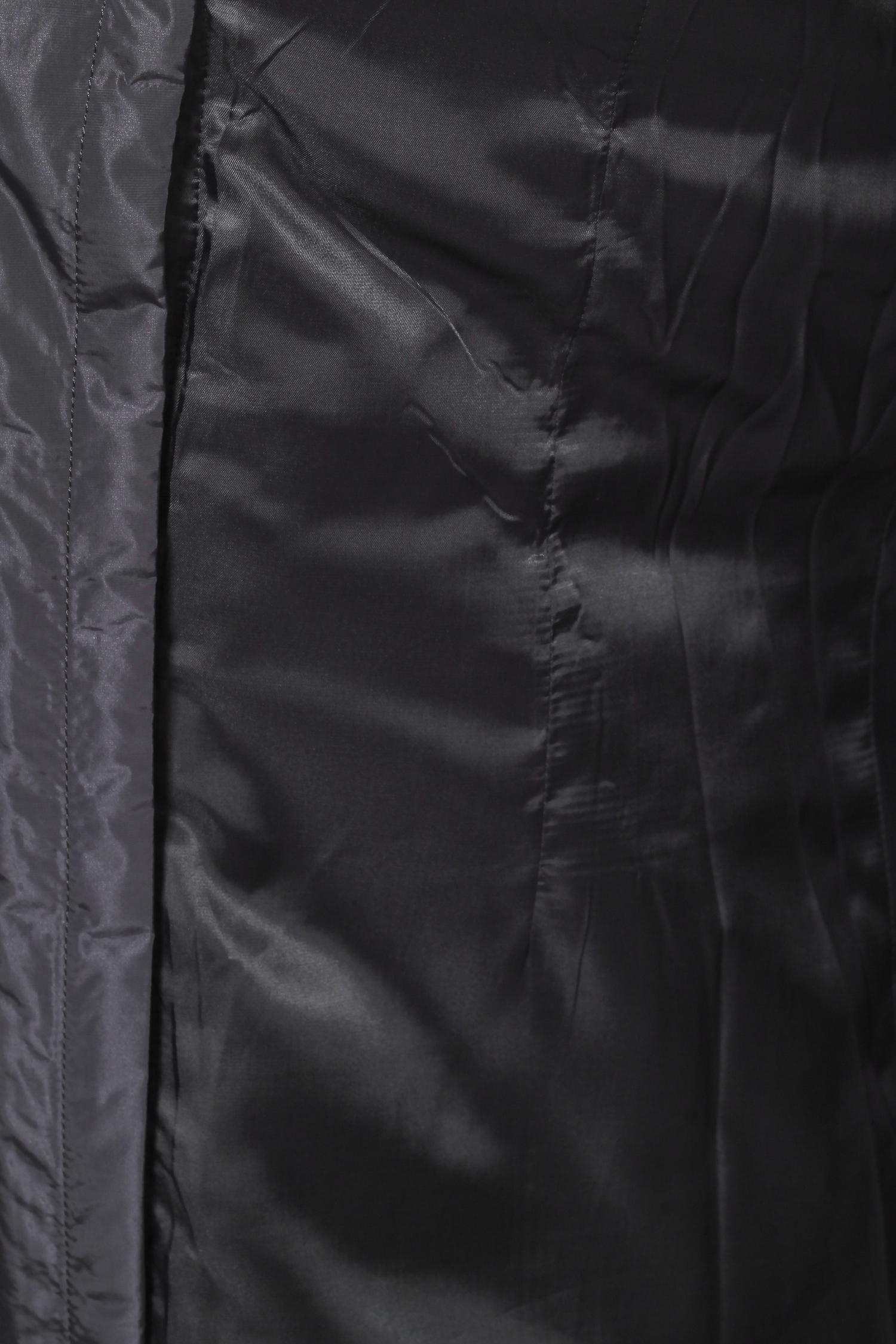 Пальто на меху с капюшоном, отделка песец от Московская Меховая Компания