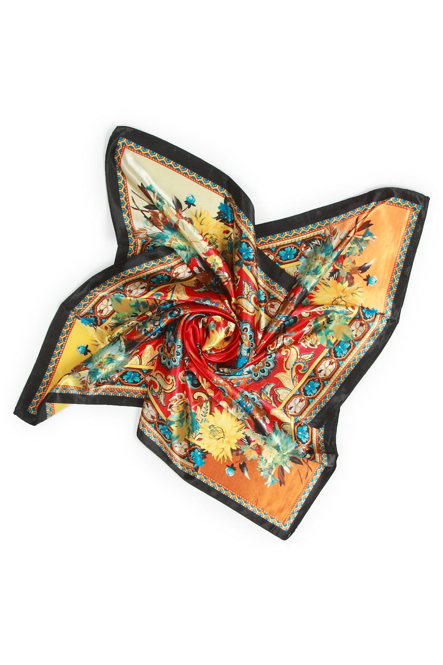 Платок из полиэстера<br><br>Материал: Полиэстер<br>Цвет: коричневый<br>Пол: Женский