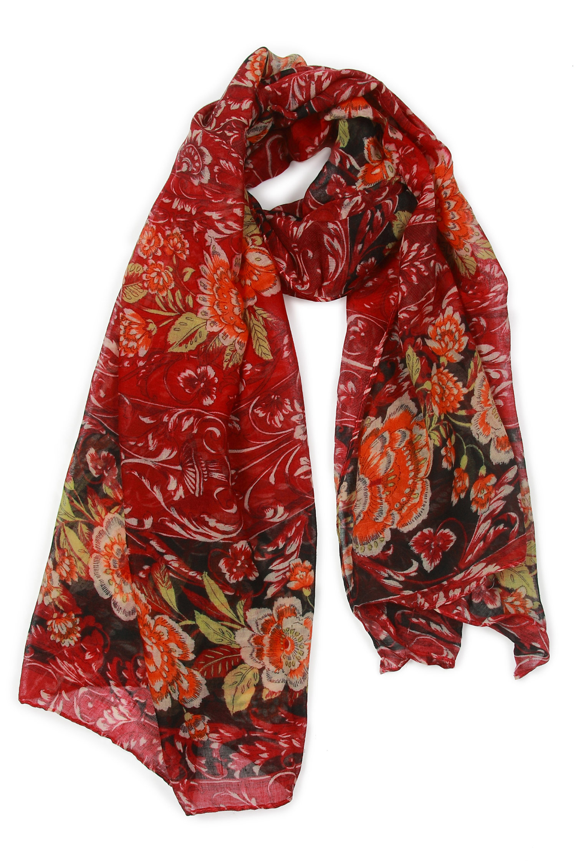Платок из вискозы<br><br>Материал: Текстиль<br>Цвет: красный<br>Пол: Женский
